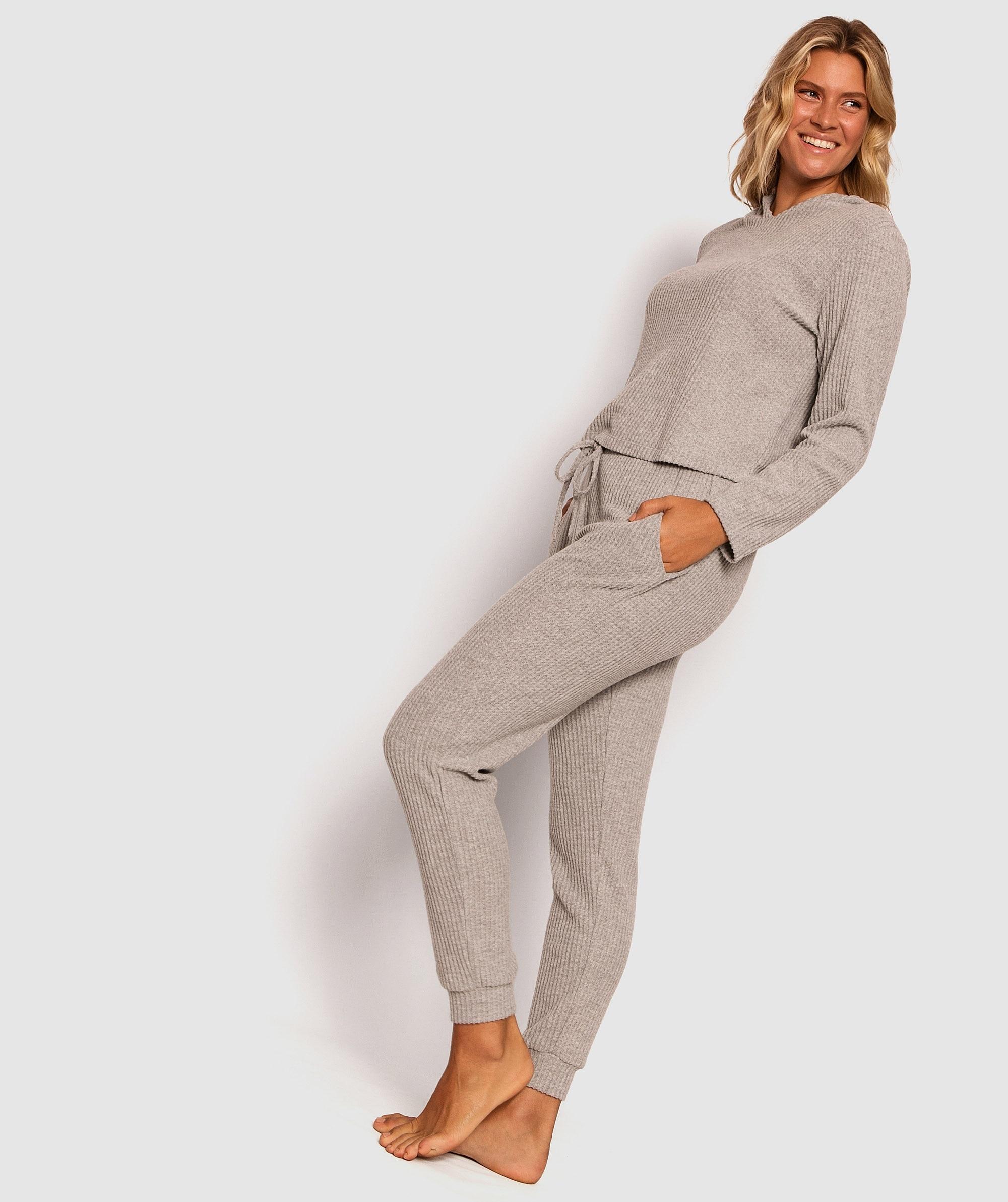 Siesta Waffle Jogger Pants - Light Grey