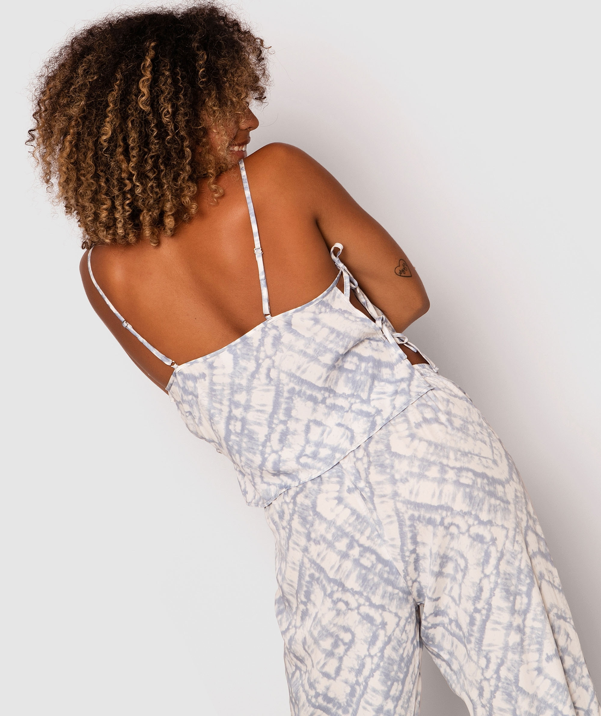 Mystic Tie Side Crop Cami - Print