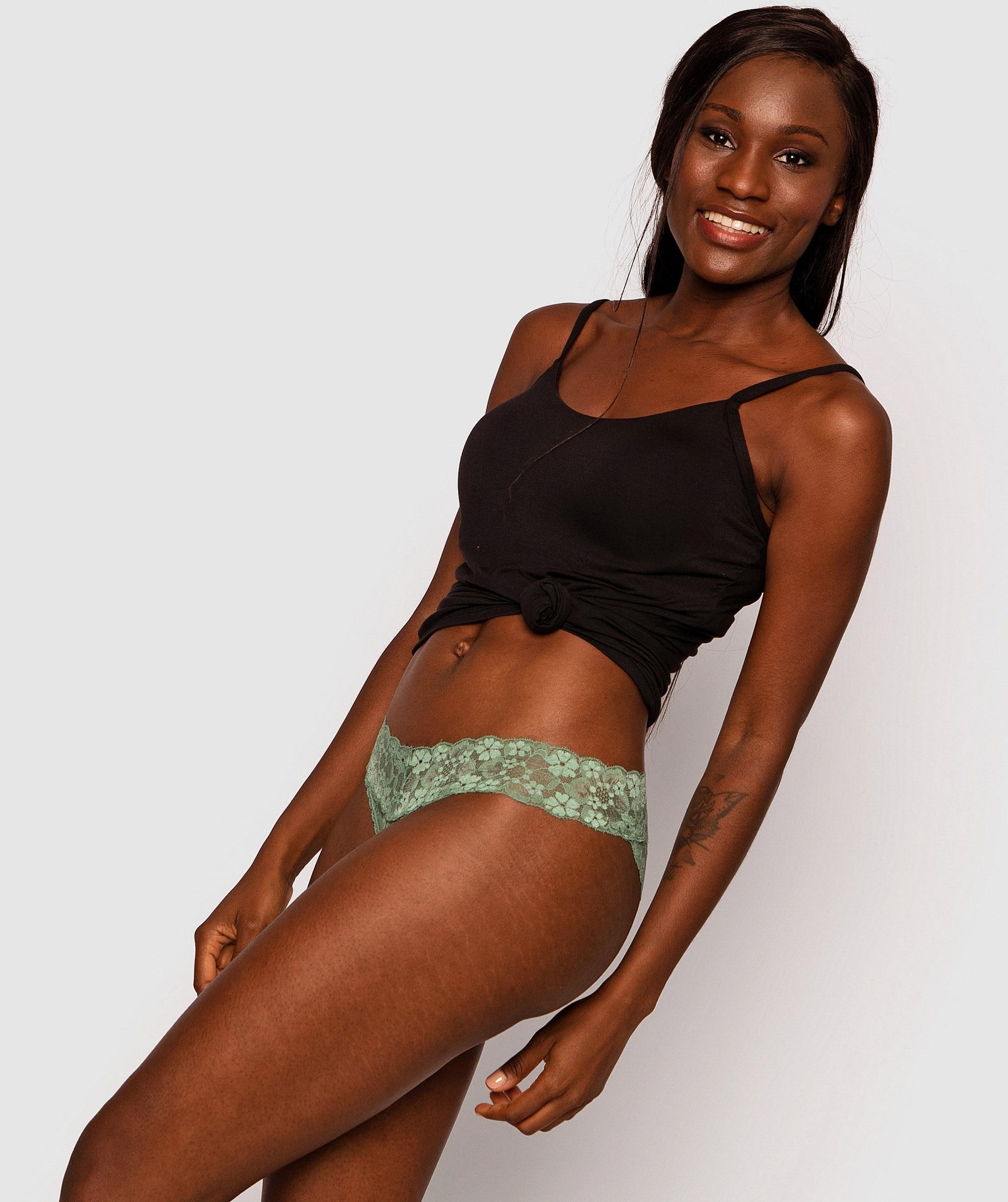 Evie Brazilian Knicker - Green