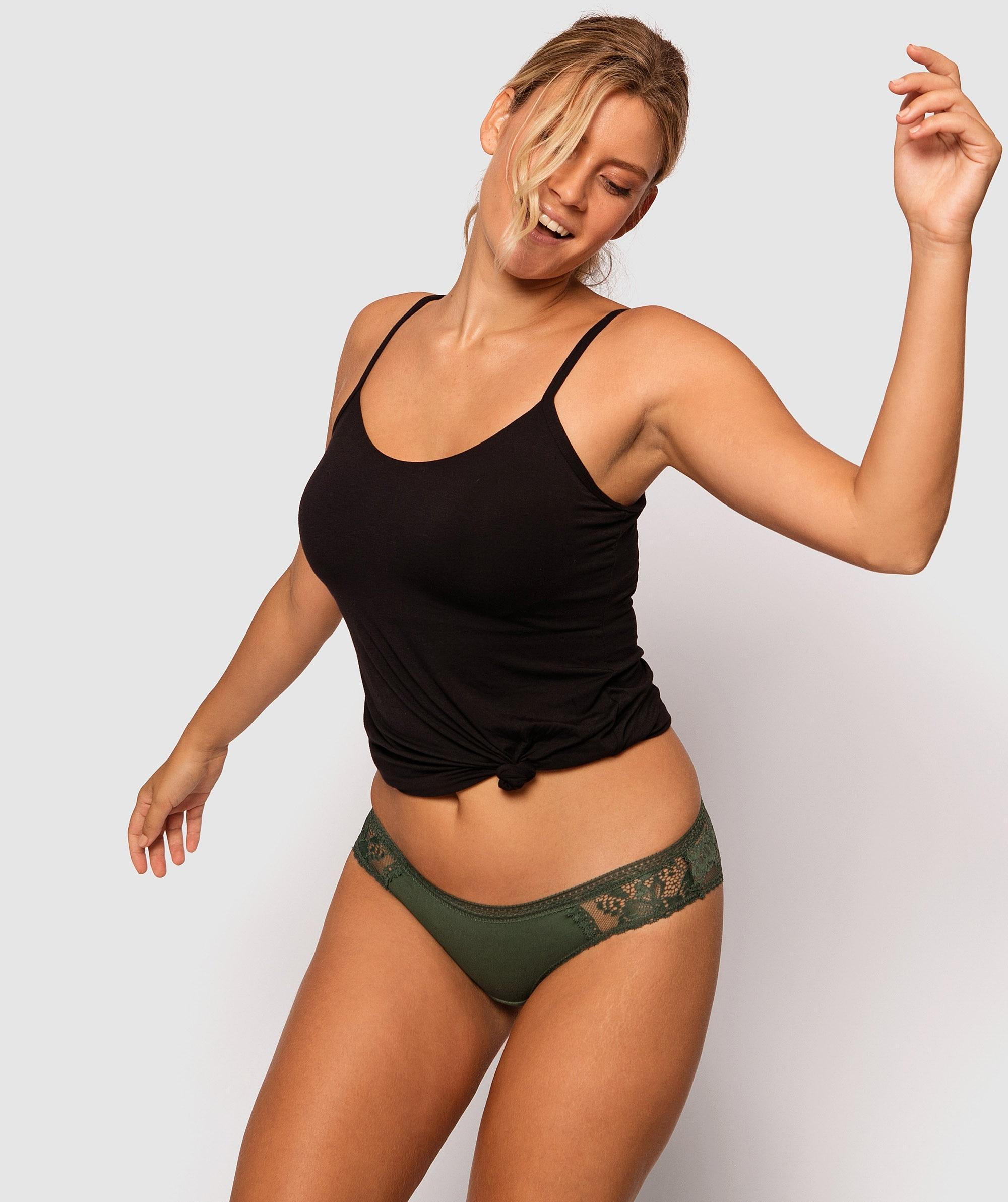 Ember Brazilian Knicker - Dark Green