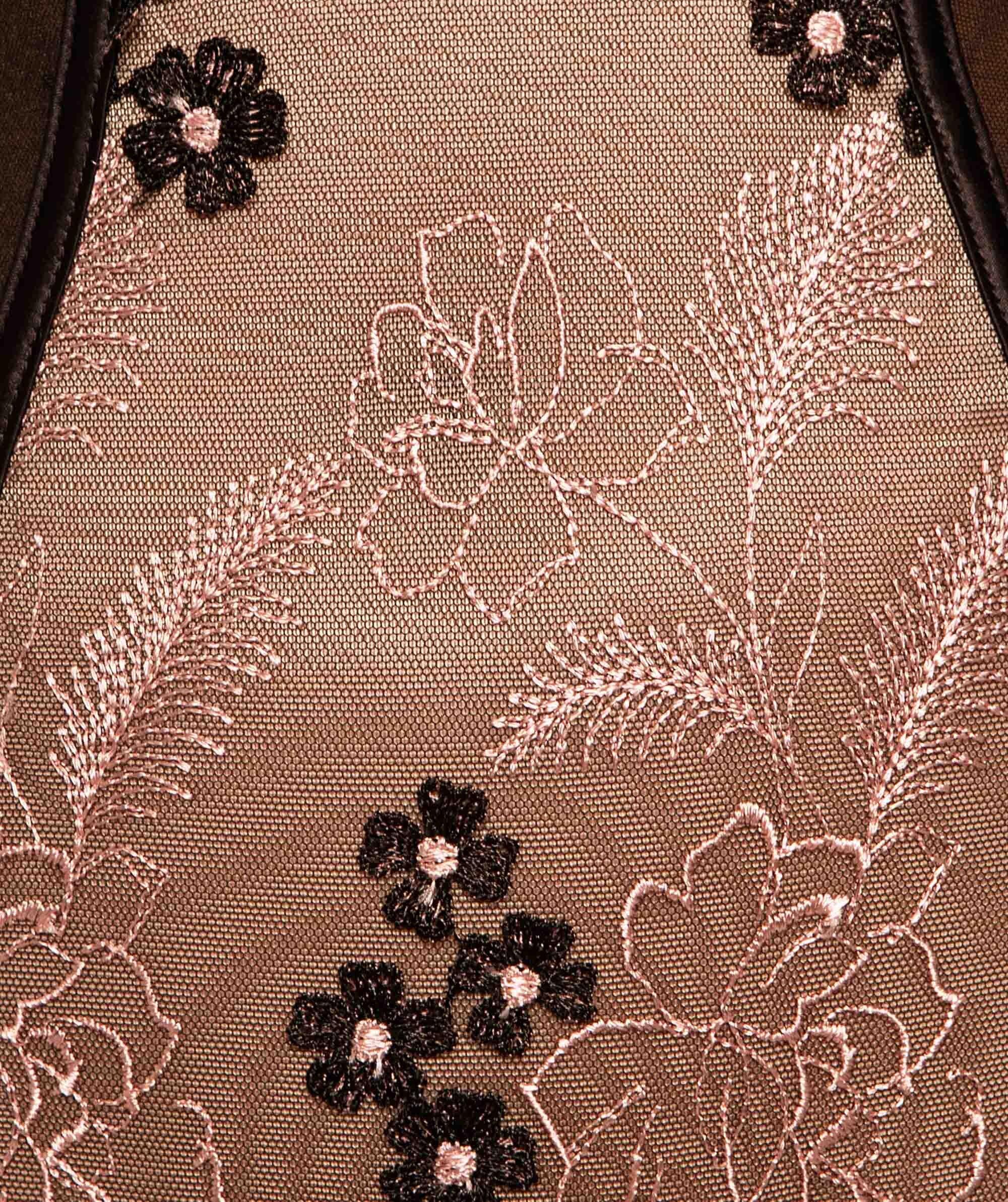 Enchanted Orleans High Waisted V-String Knicker - Black/Rose Gold