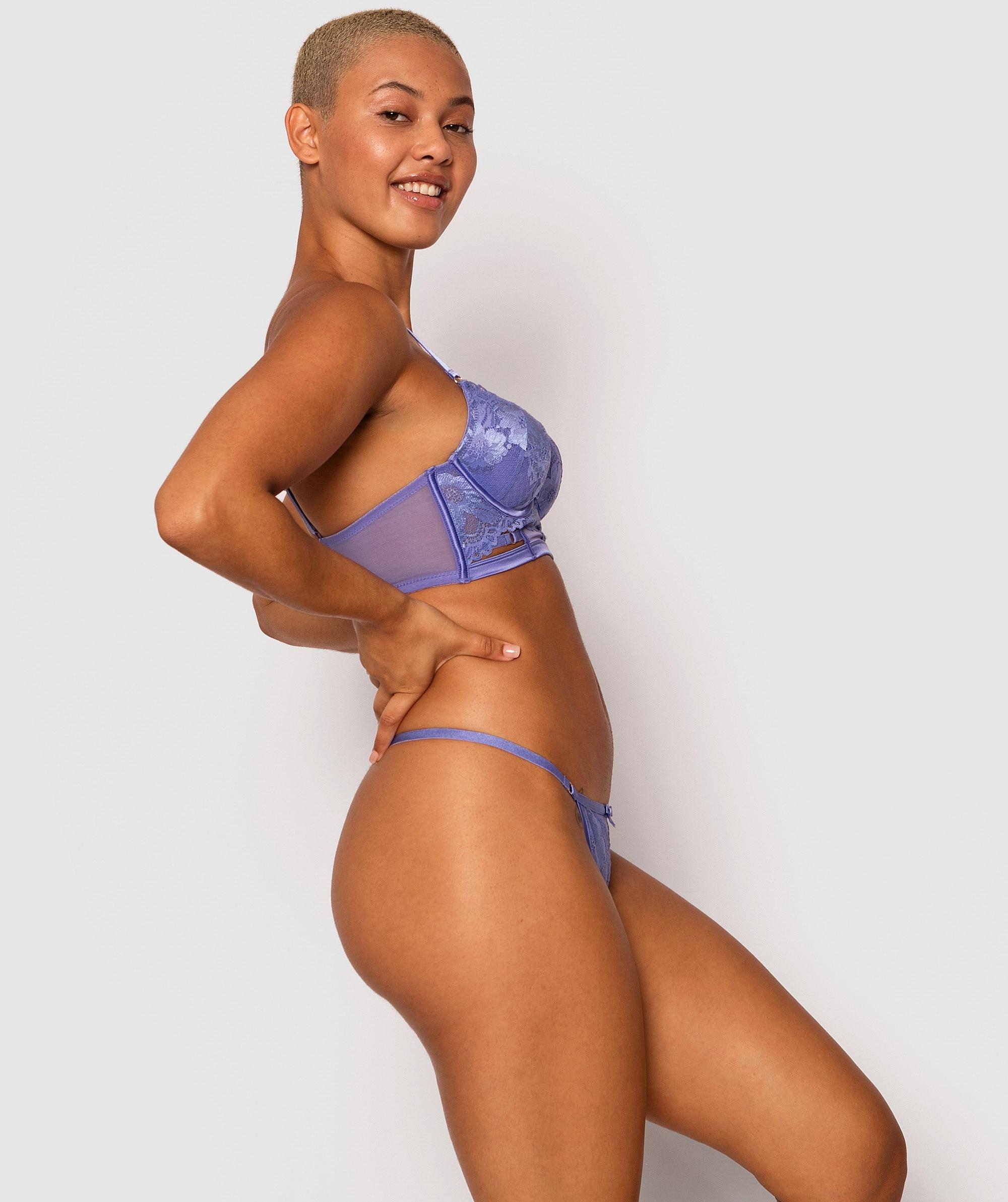 Gemma Mini V Knicker - Cobalt Blue