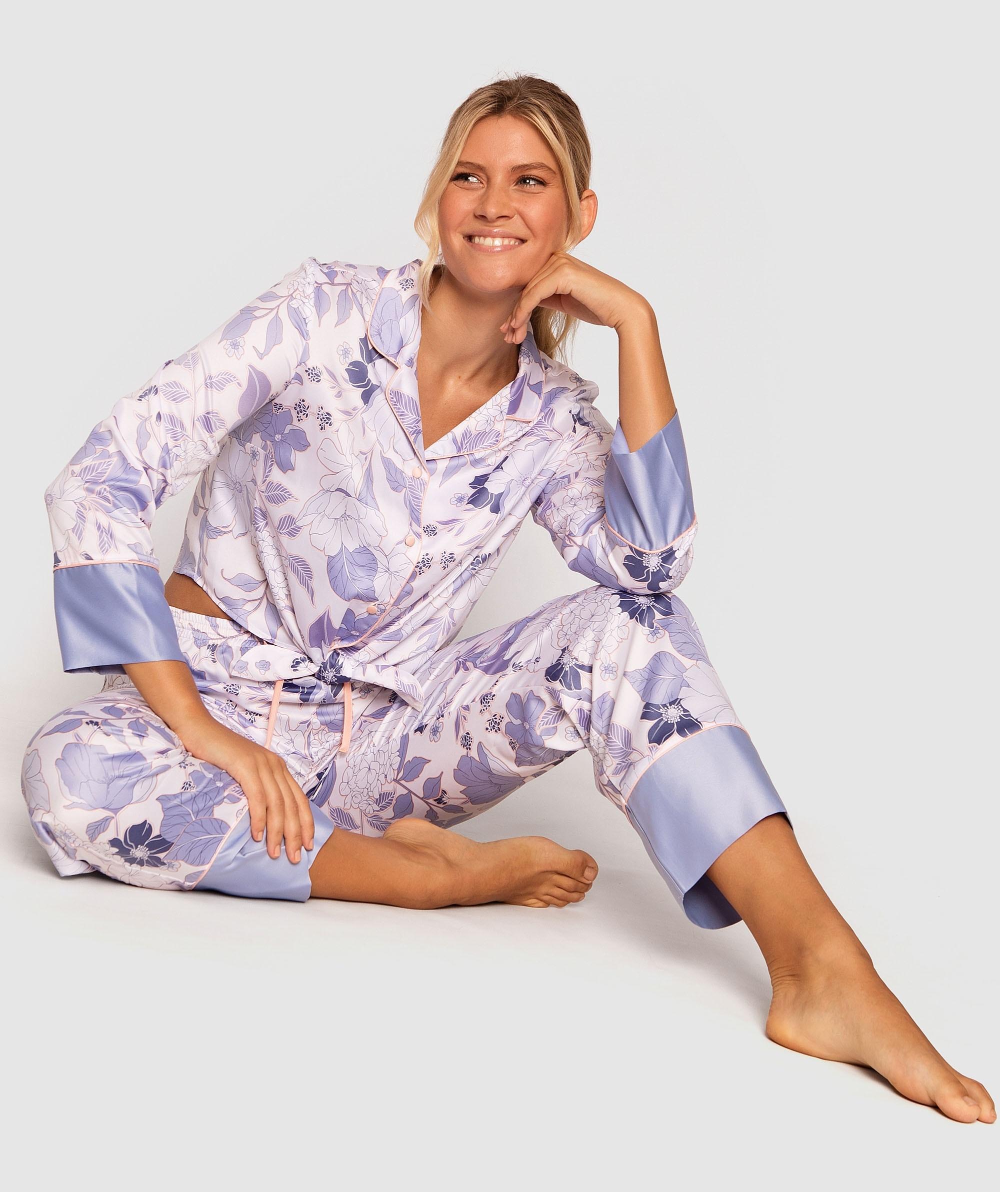 Bridgette 3/4 Pants - Sky Blue/ Floral Print