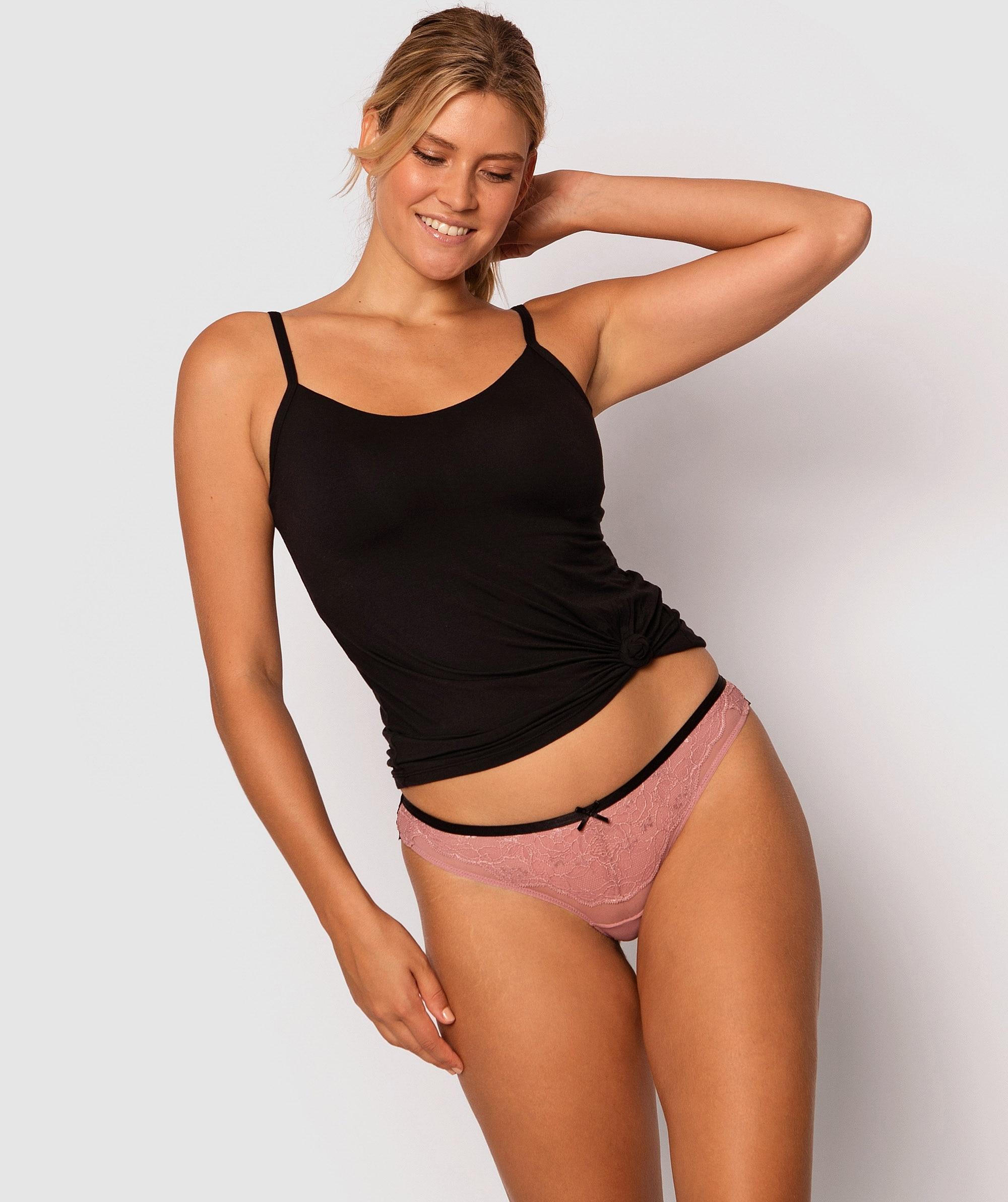 Suzu Brazilian Knicker - Purple/Black