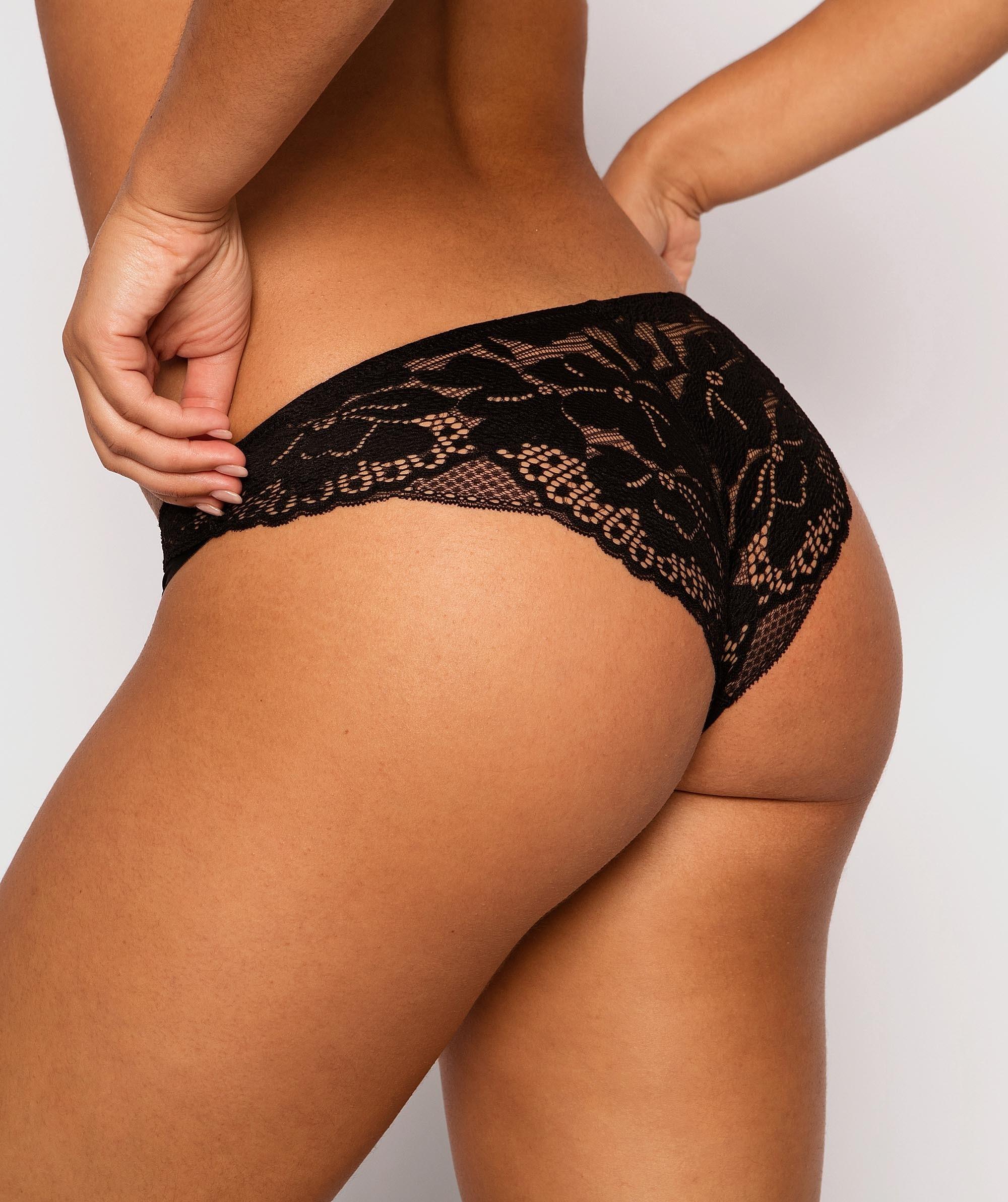 Fashion Sensations Brazilian Knicker - Black