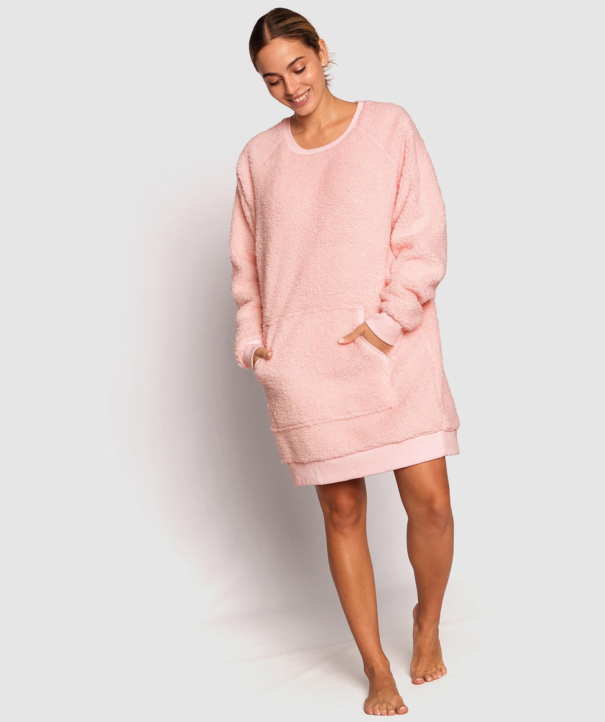 Teddy Longline Jumper - Pink
