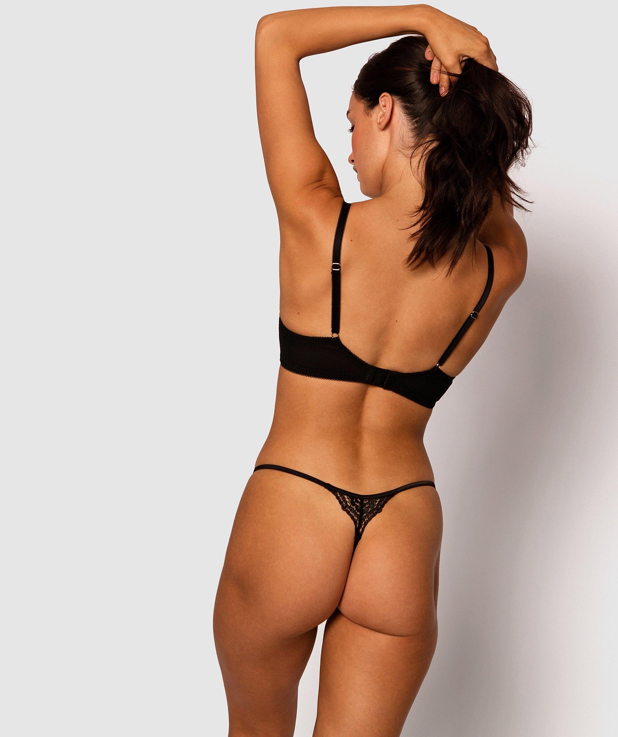 Maribel Mini V Knicker - Black