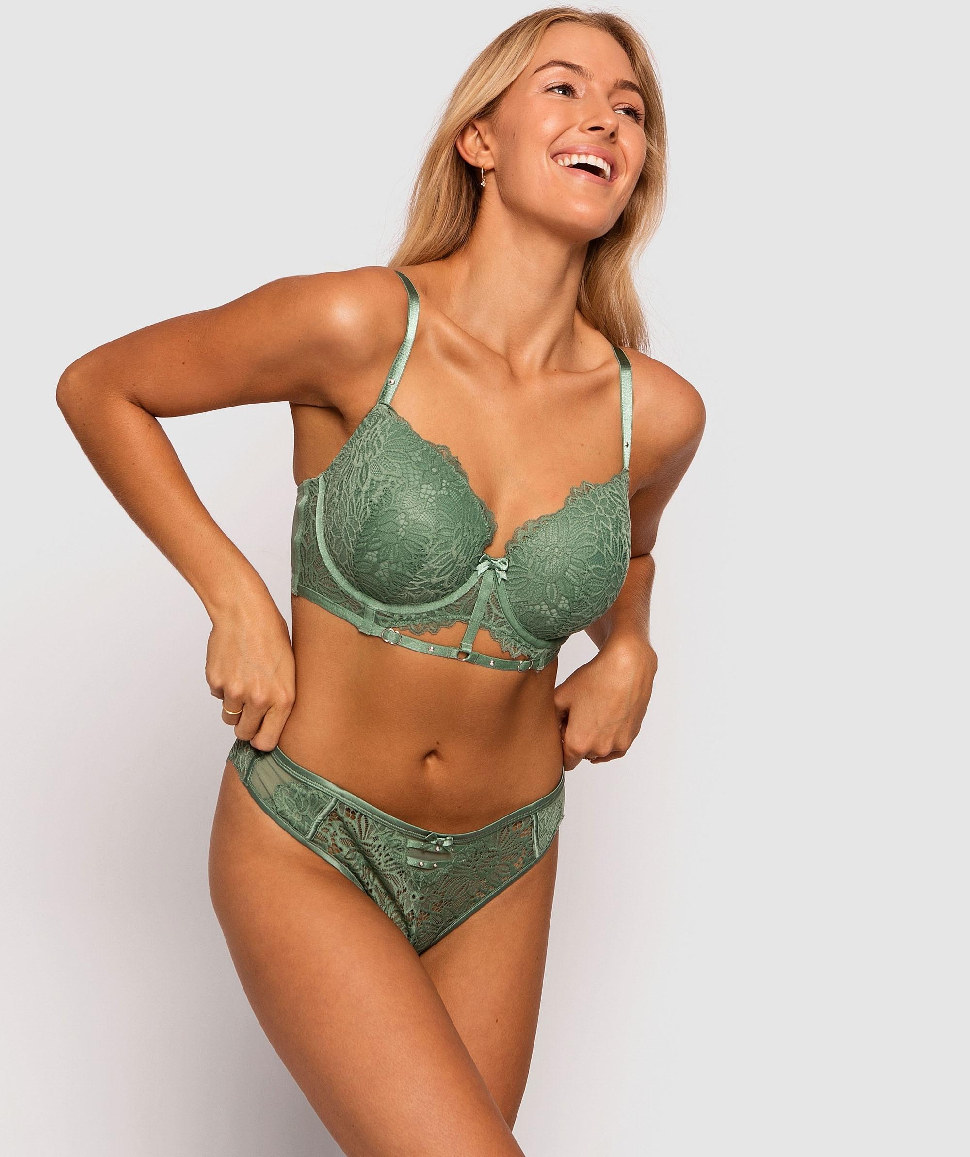 Kendra Brazilian Knicker - Khaki