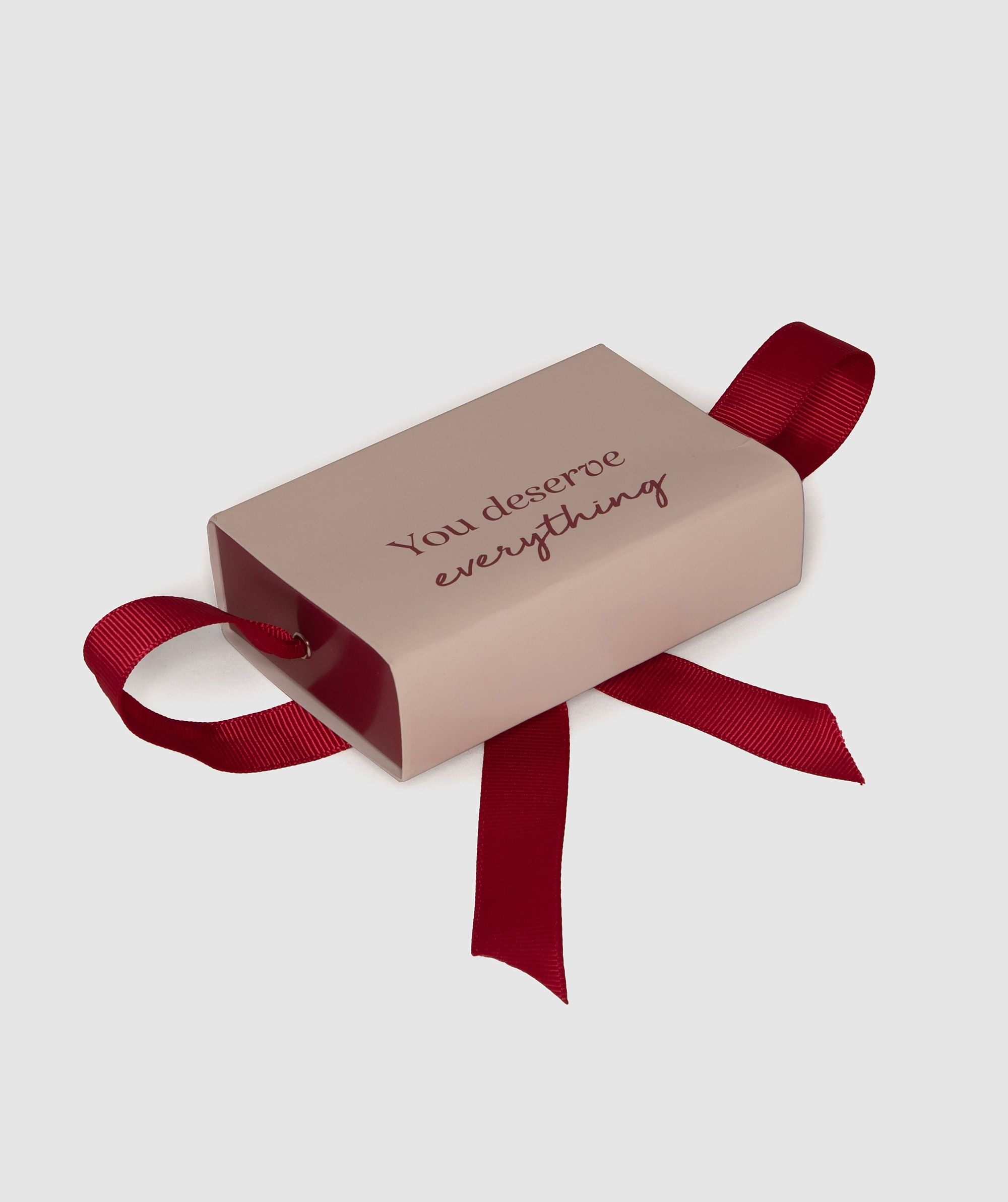You Deserve Everything Small Giftcard Box - Pink/Nude