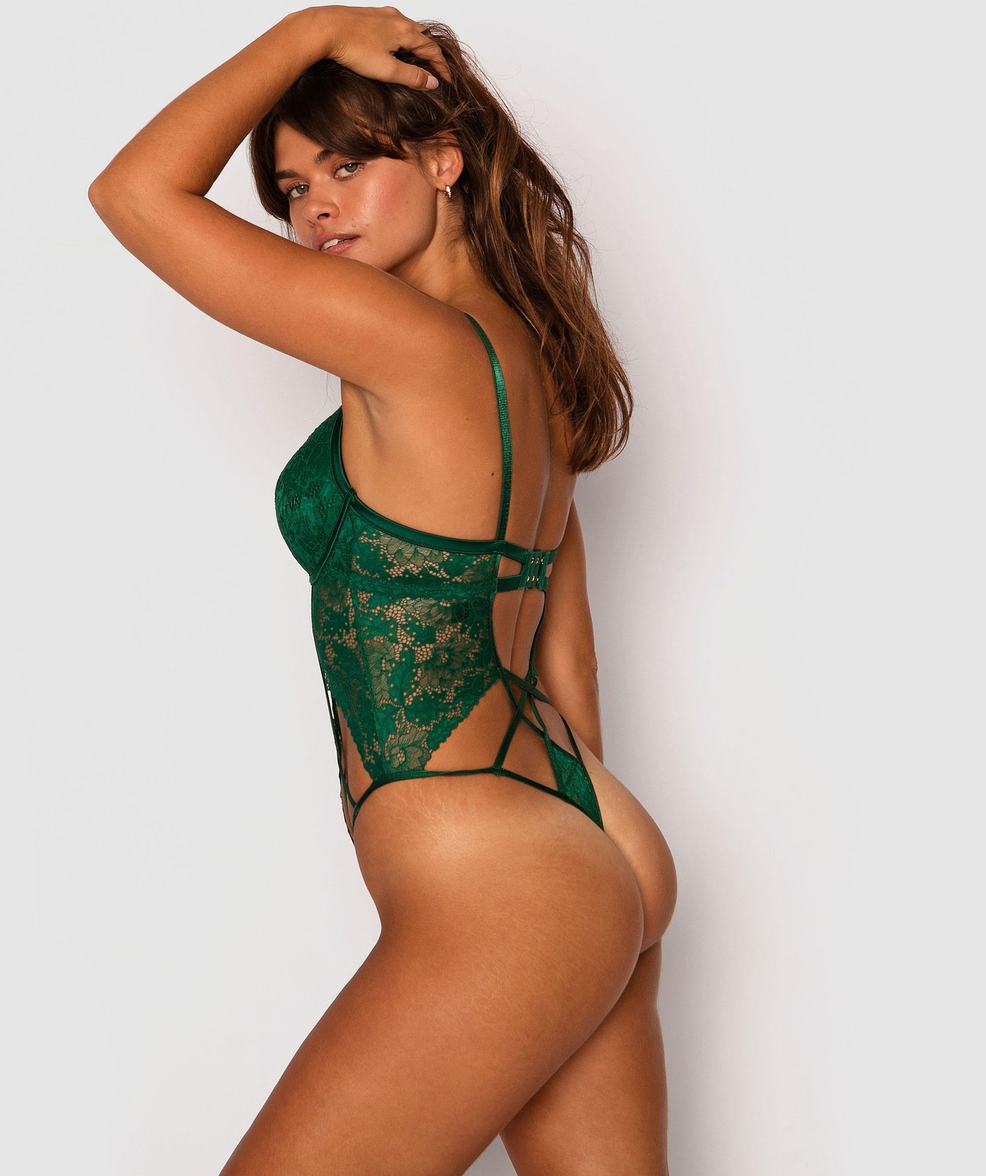 Shamrock Push Up Bodysuit - Dark Green