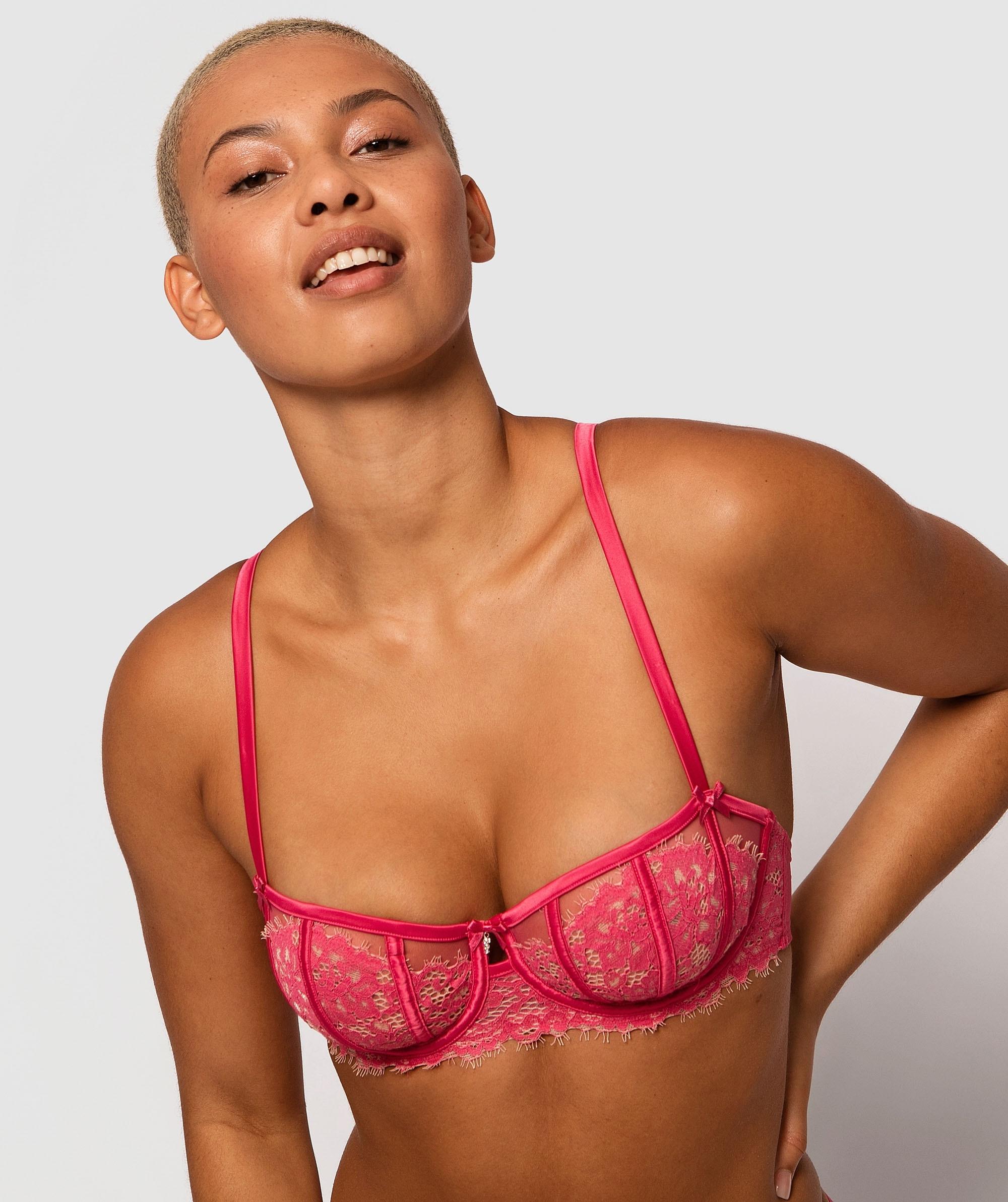 Karina Underwire Bra - Dark Pink/Nude