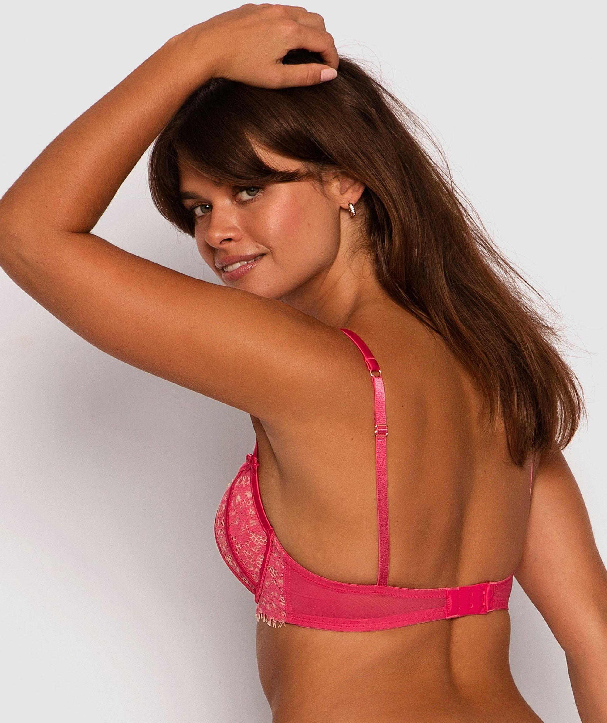Karina Push Up Bra - Dark Pink/Nude