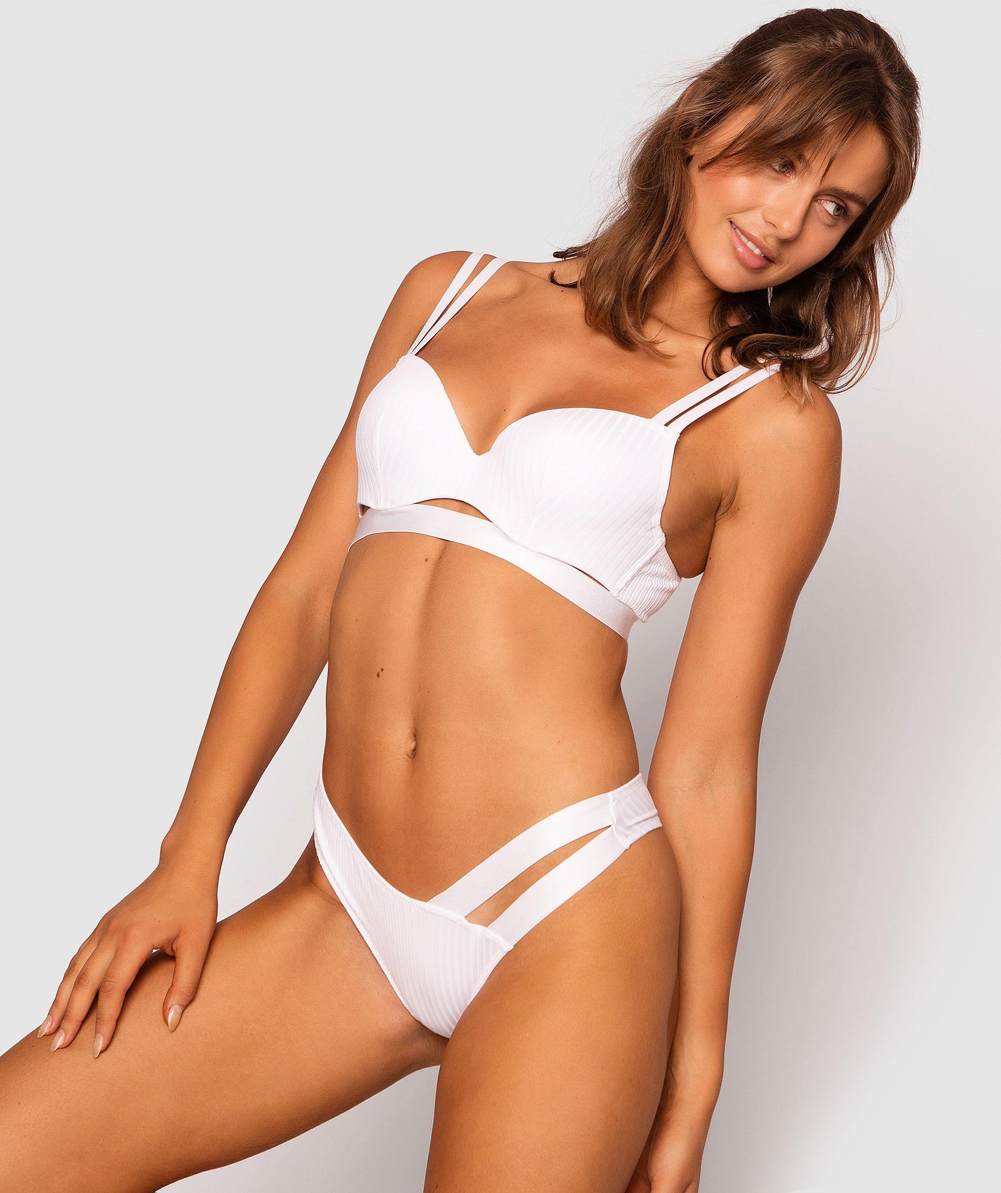Leisurie Balconette Push Up Bra - White