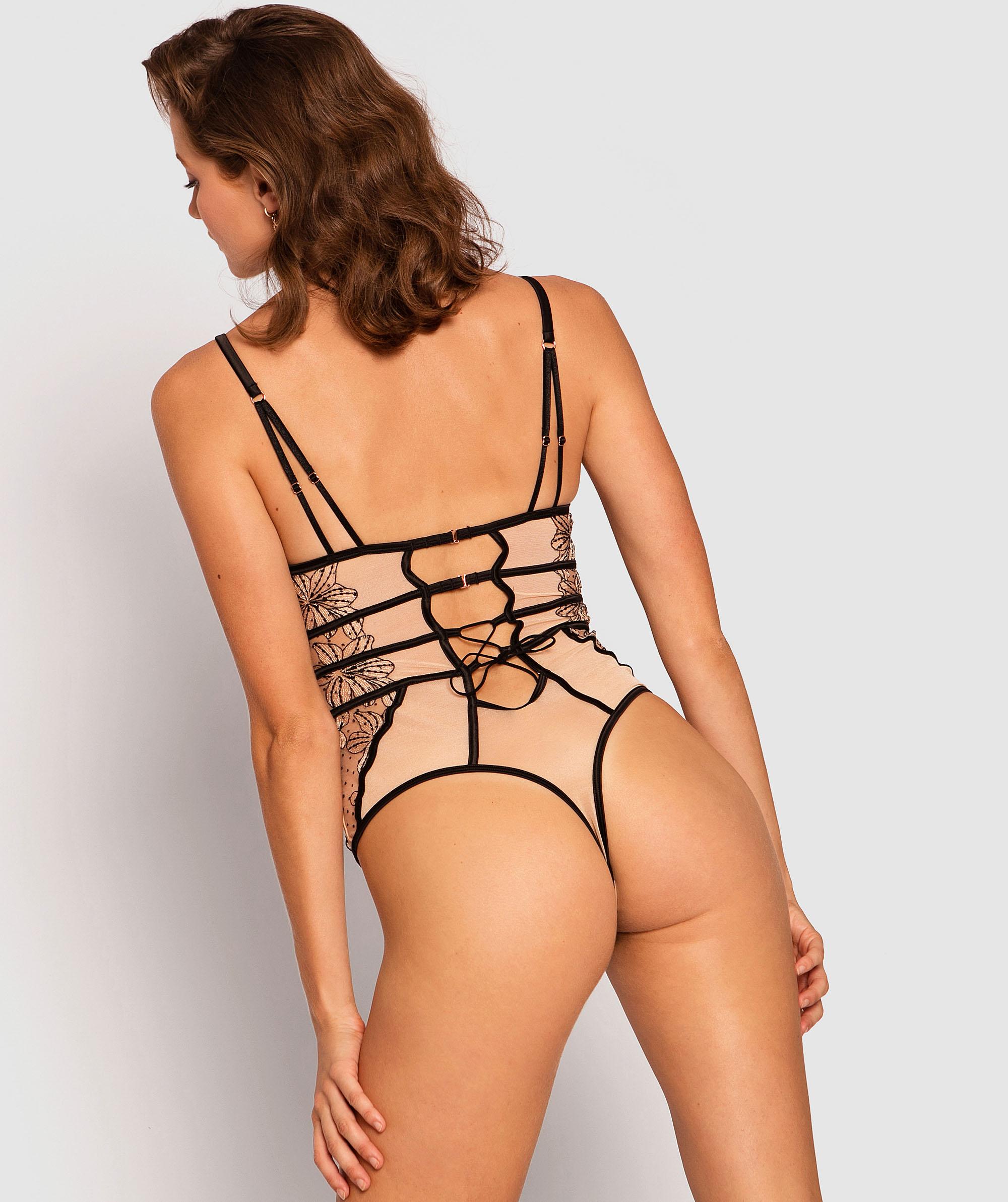 Enchanted Maiella Bodysuit - Black/Nude