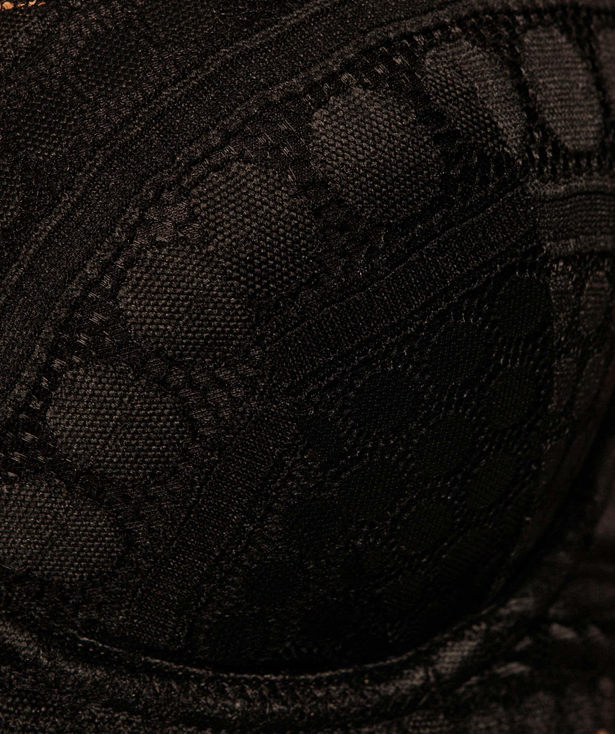 Dotty Plunge Contour Bra - Black
