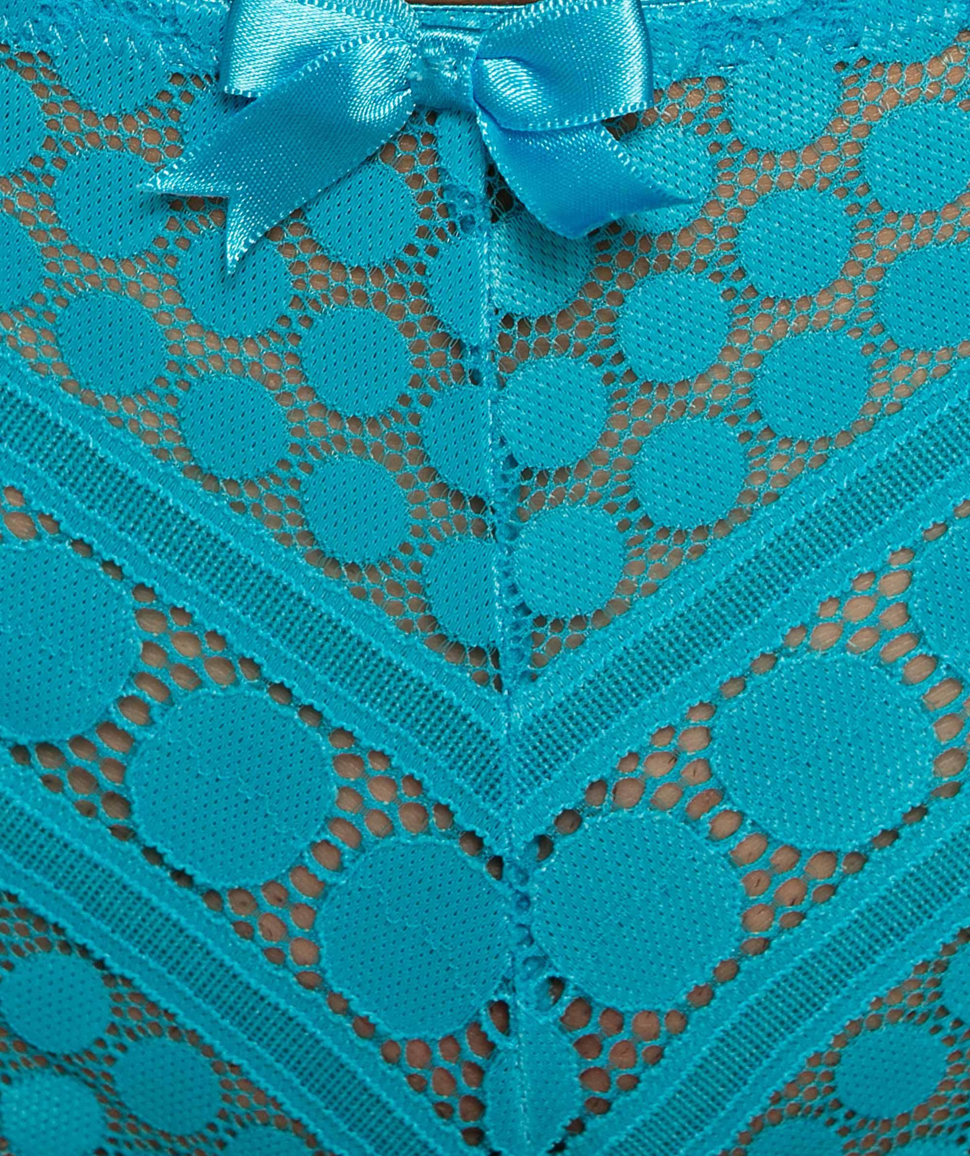 Dotty V-String Knicker - Blue