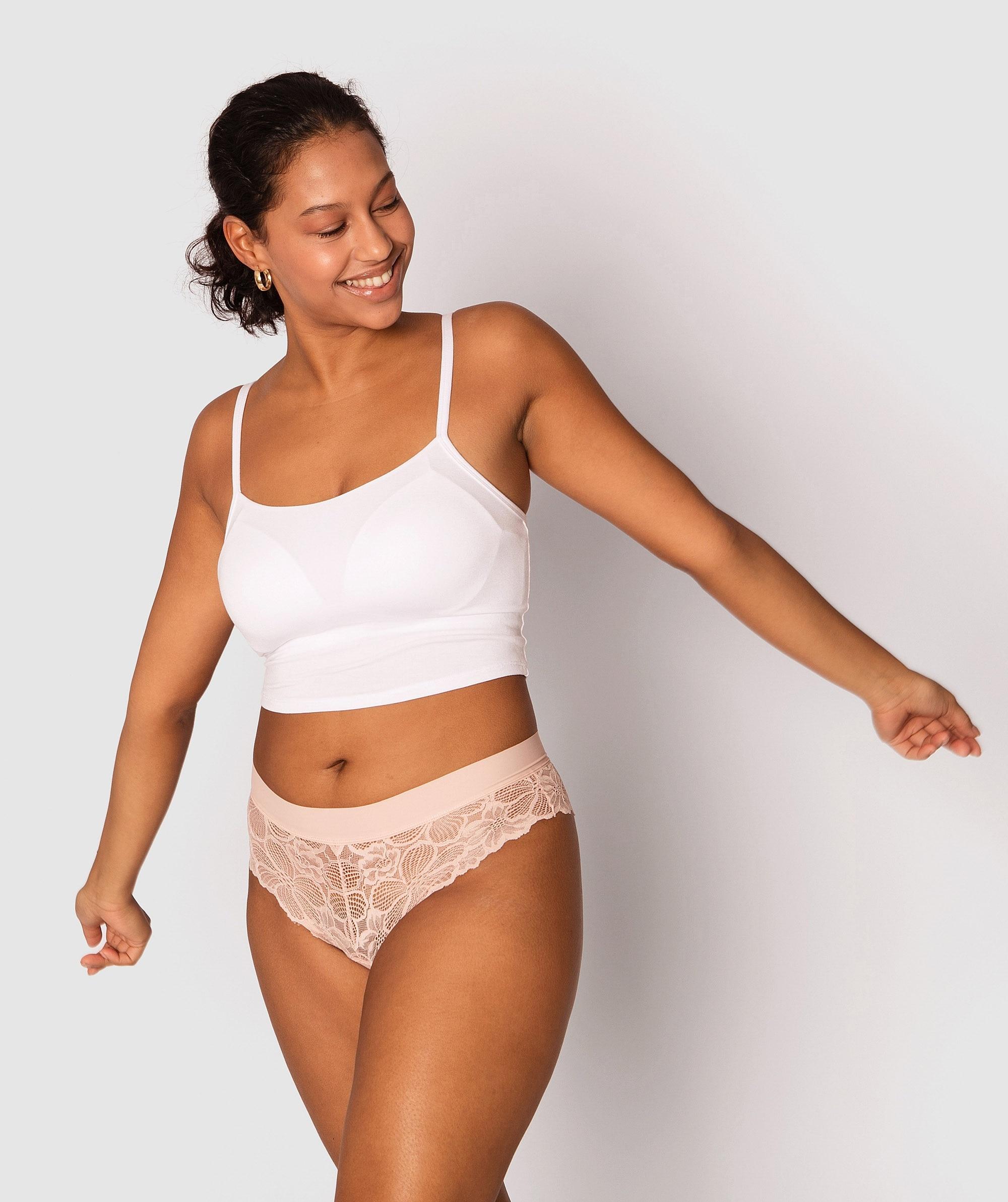 Lucie Brazilian Knicker - Blush Pink