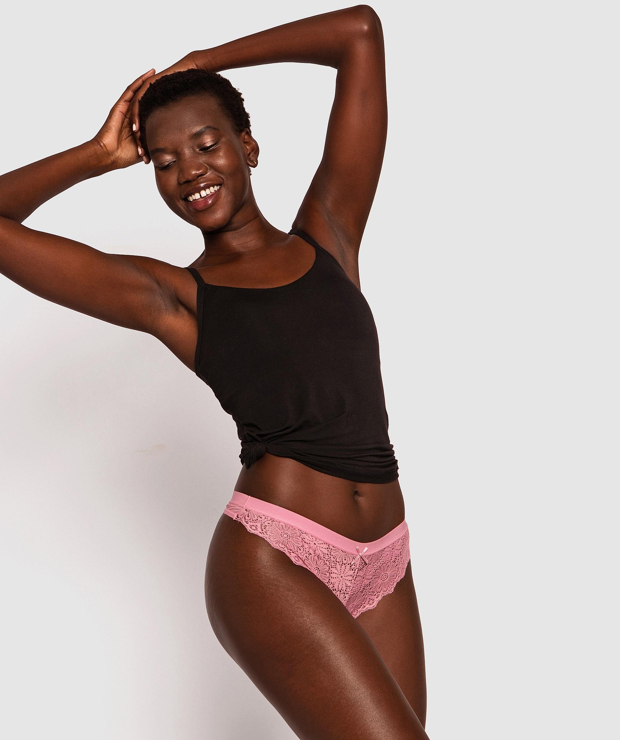 Alby V-String Knicker - Pink