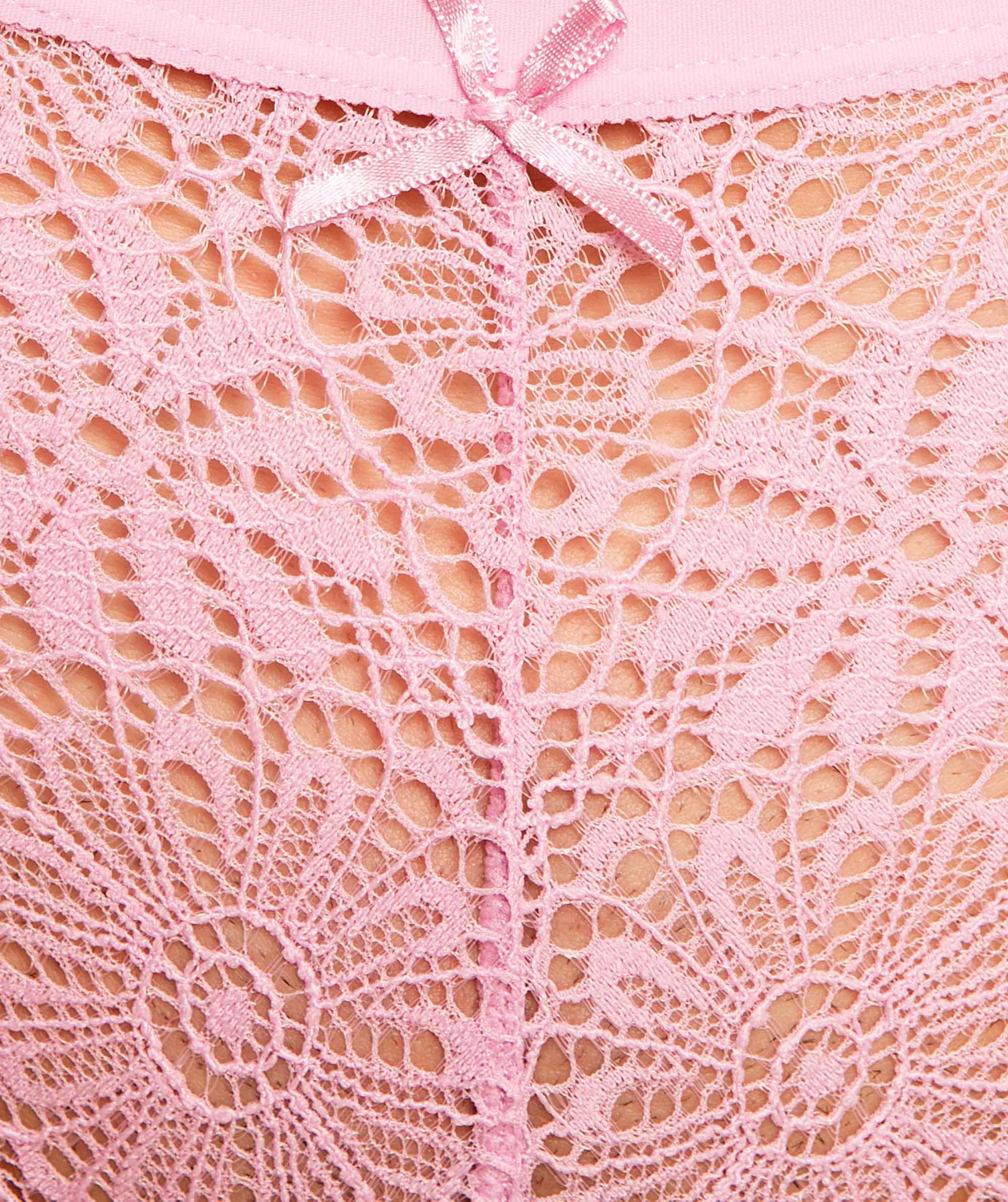 Alby V-String Knicker - Light Pink