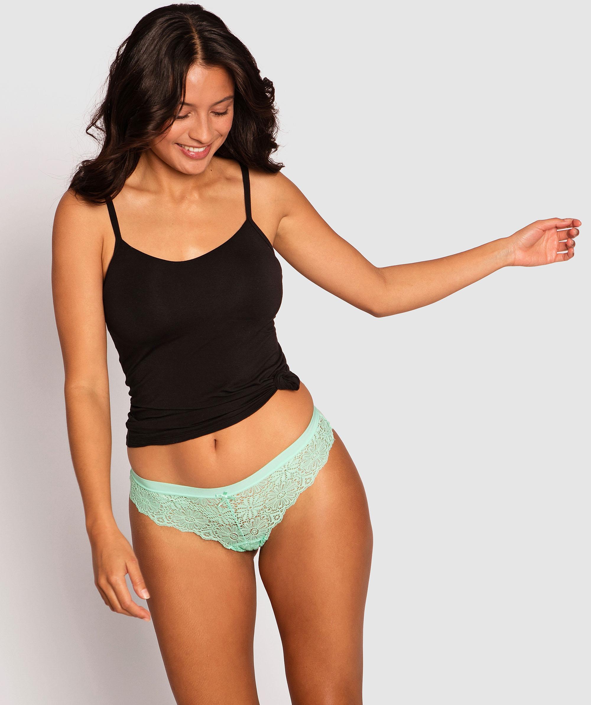 Alby Brazilian Knicker -Green