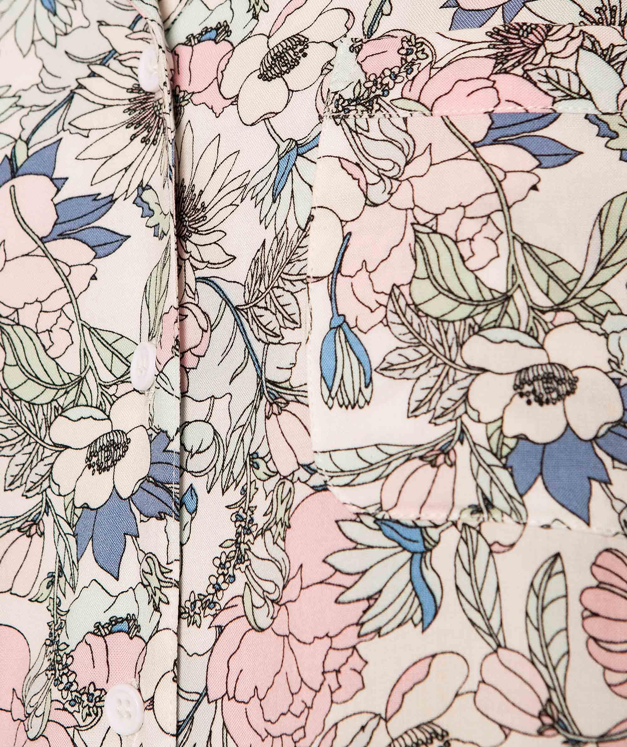 Peggy Print Short Sleeve Shirt - Floral Print