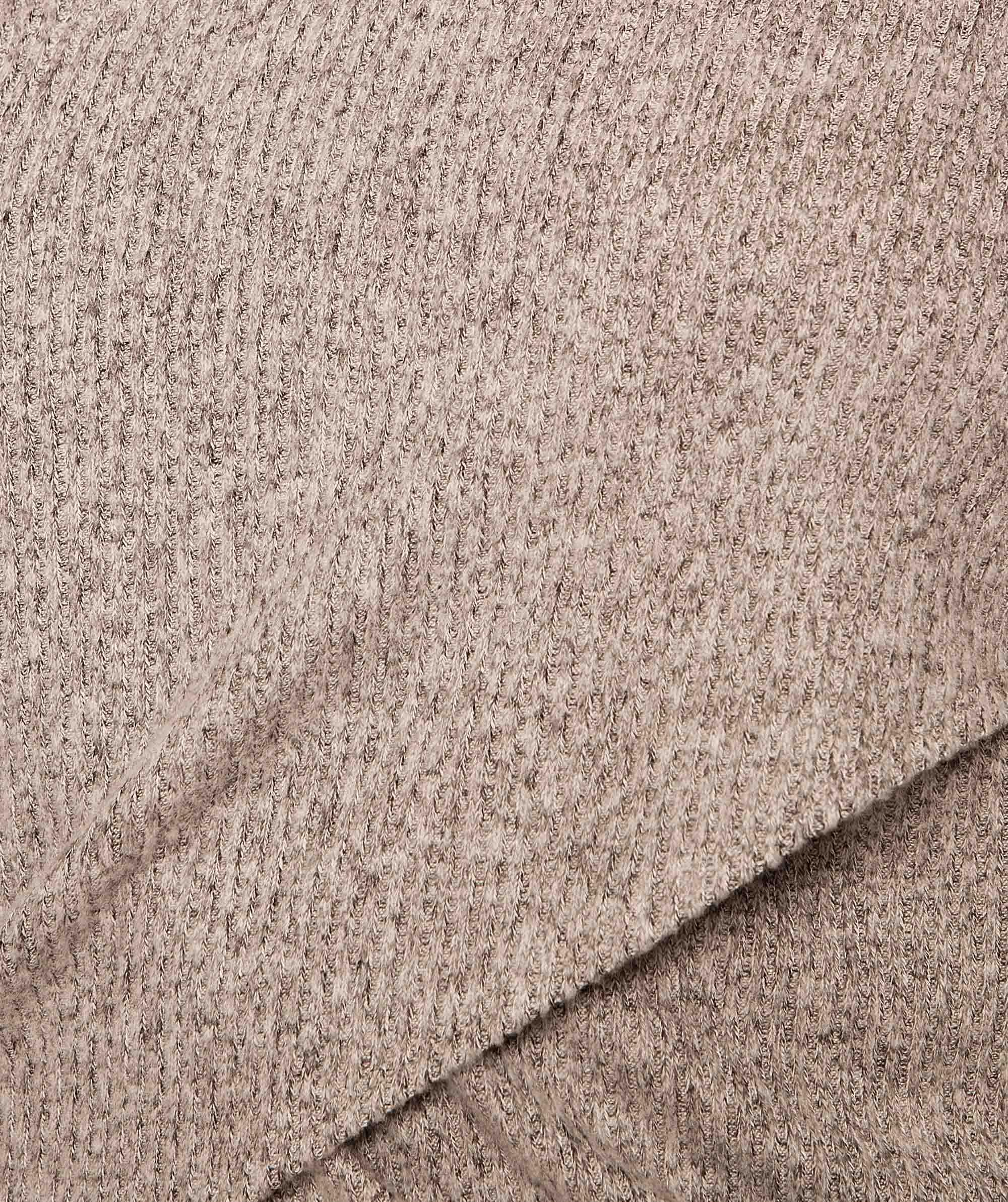 Barre Cross Front Long Sleeve Top - Grey