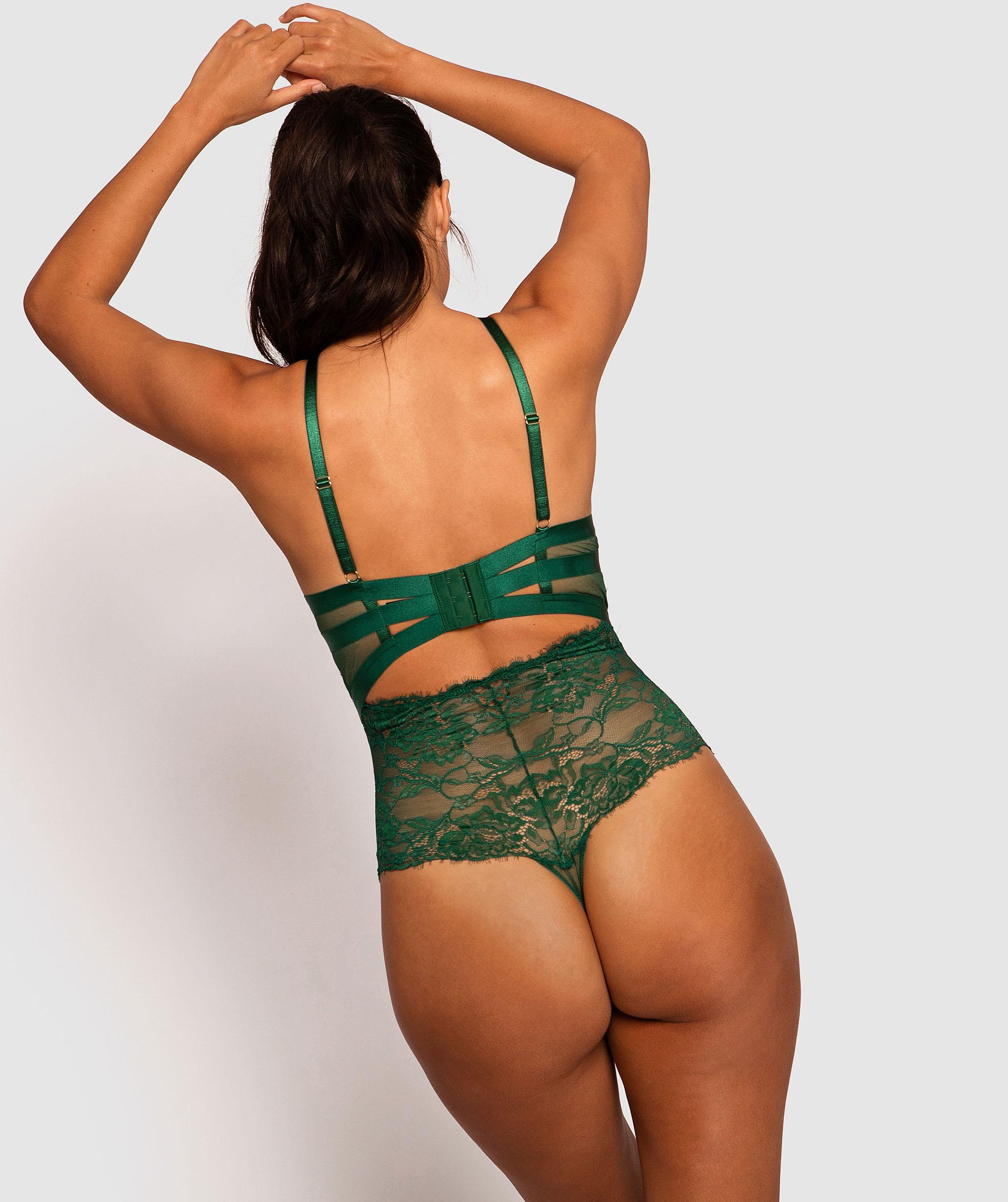 Shiloh Soft Cup Bodysuit - Dark Green