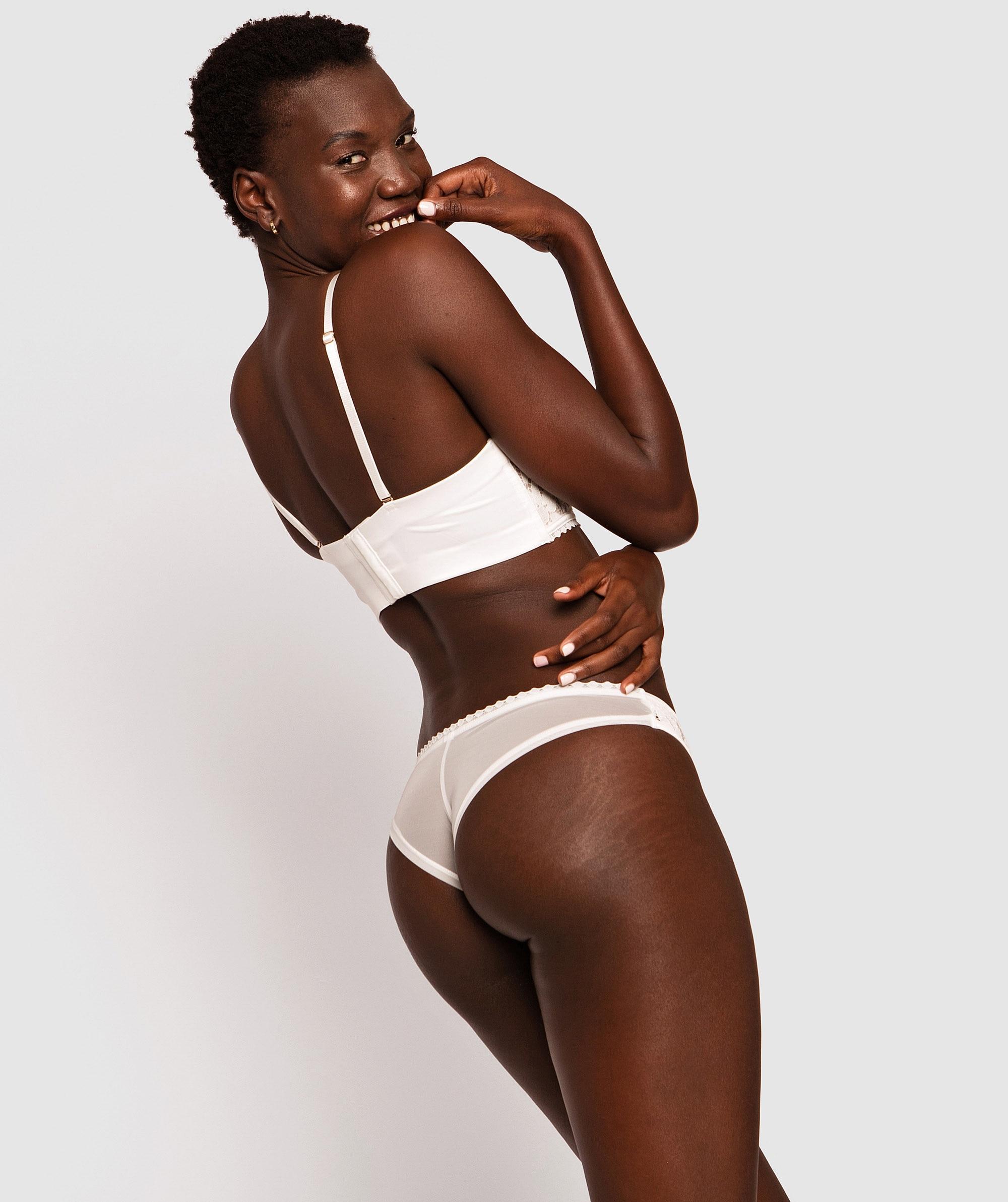 Natalya Brazilian Knicker - Ivory/Nude