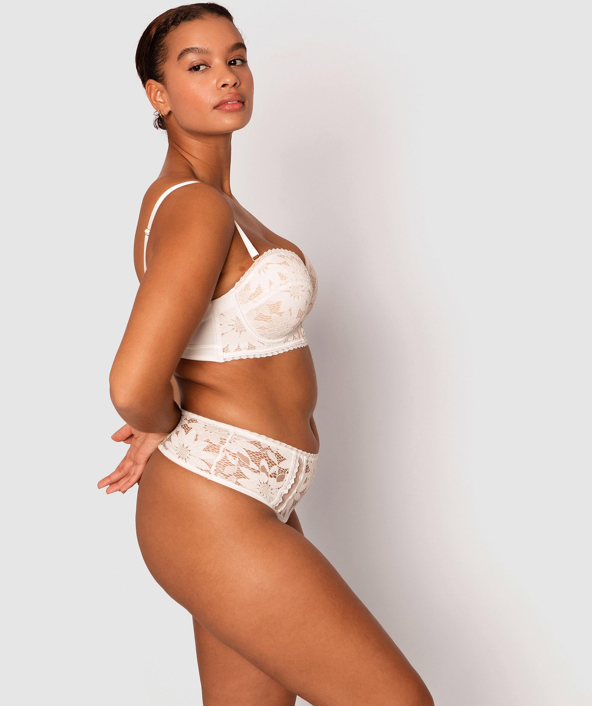 Natalya High Waisted Brief- Ivory/Nude