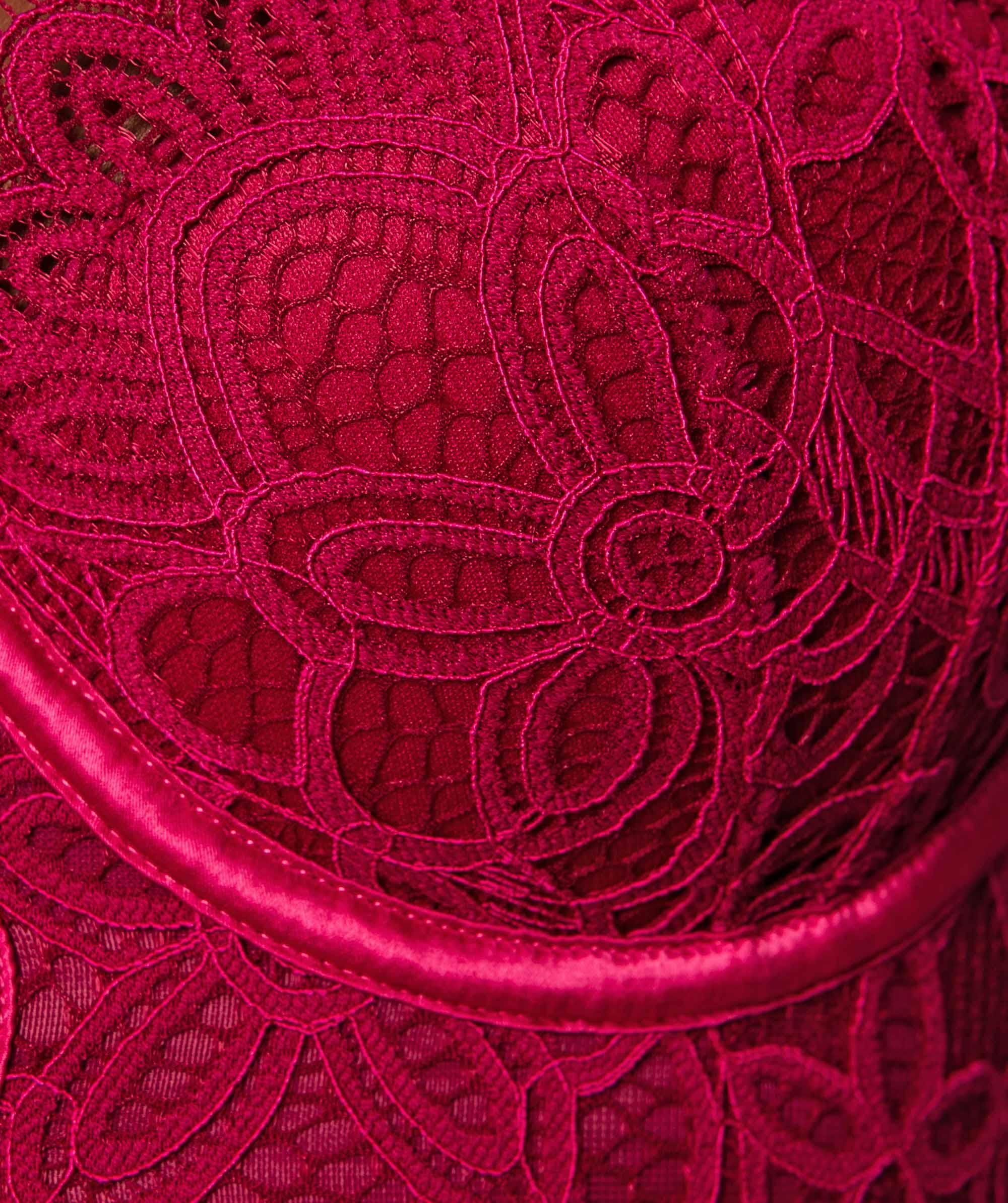 Liza Balconette Push Up Bra - Berry/Pink