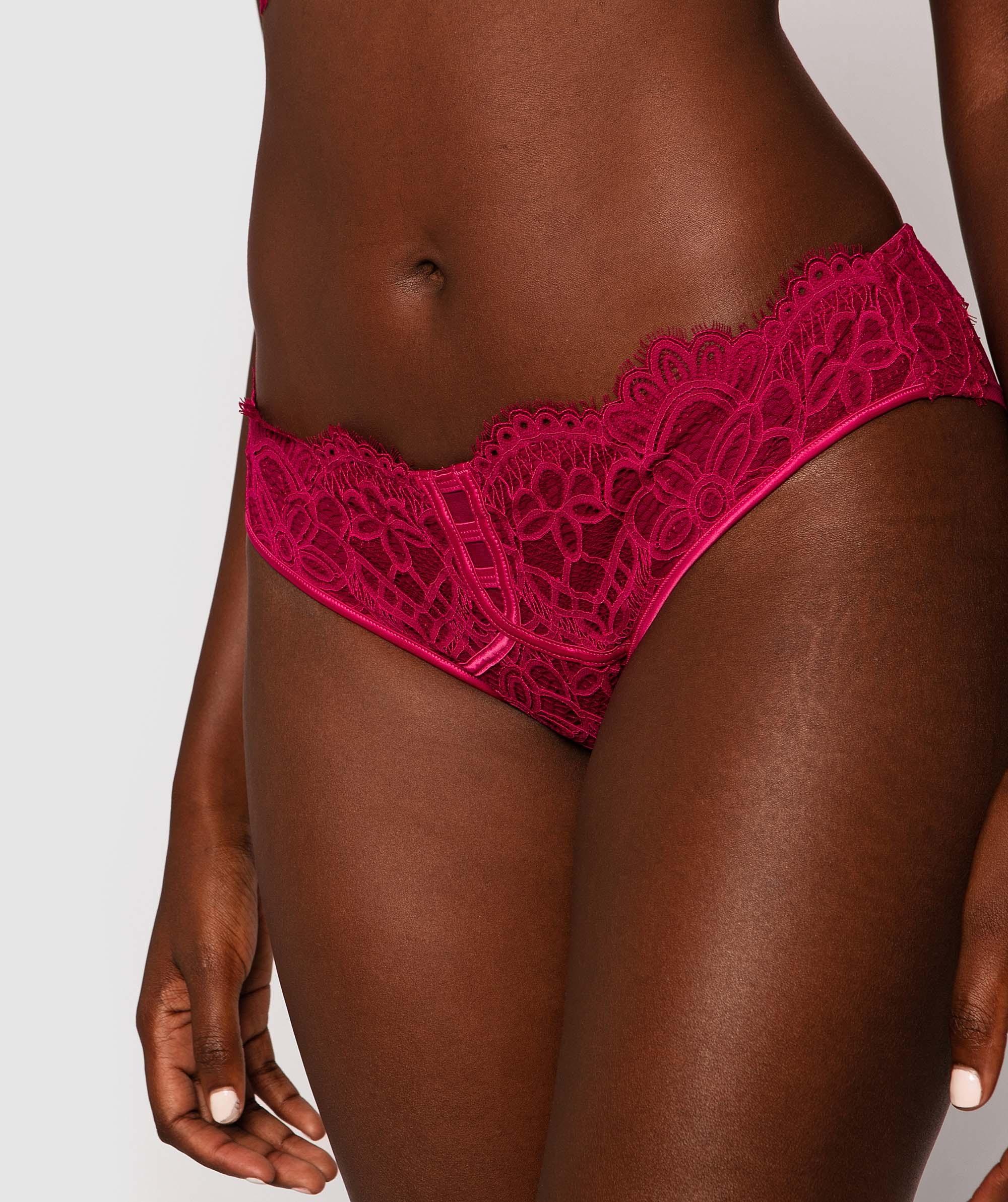 Liza Brazilian Knicker - Berry/Pink