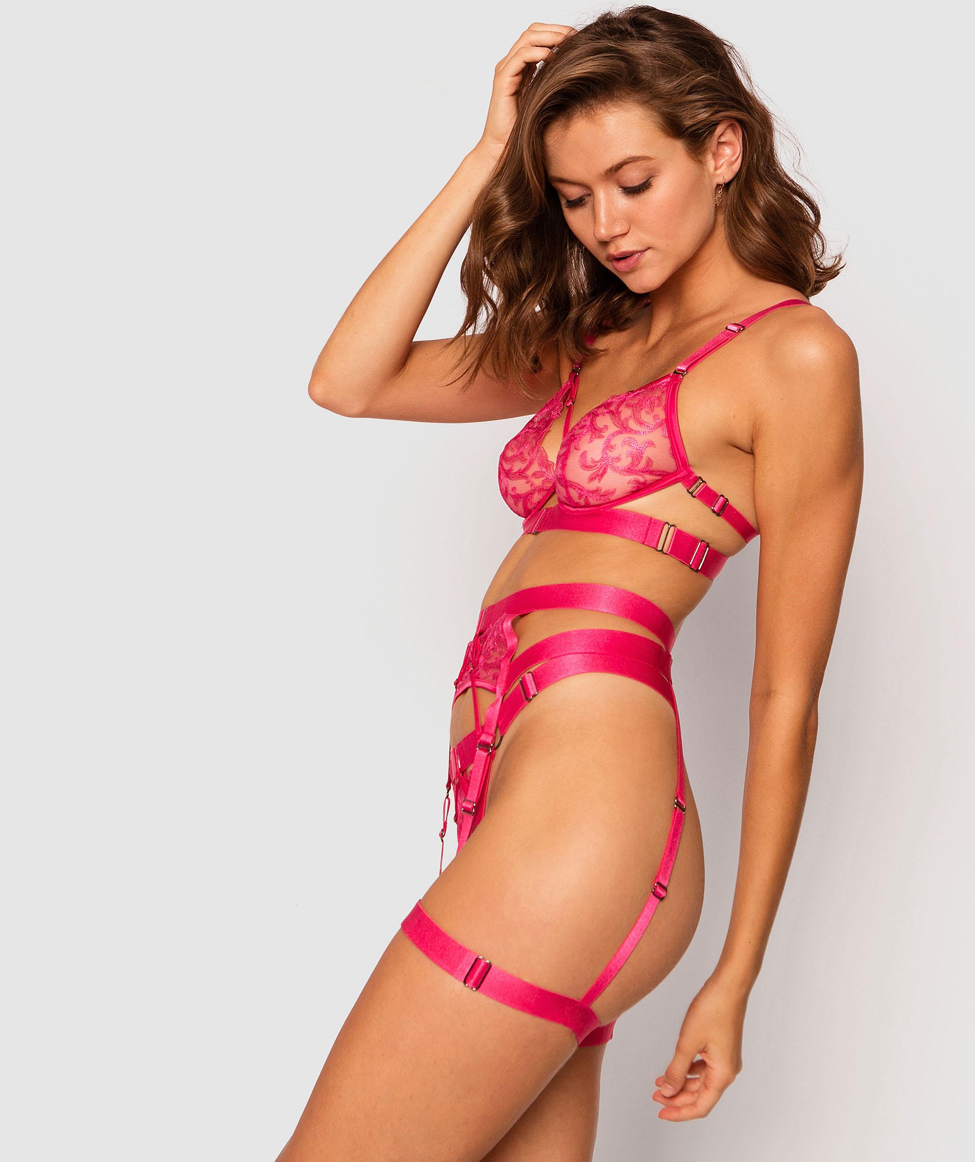 Electra Fling Suspender - Dark Pink