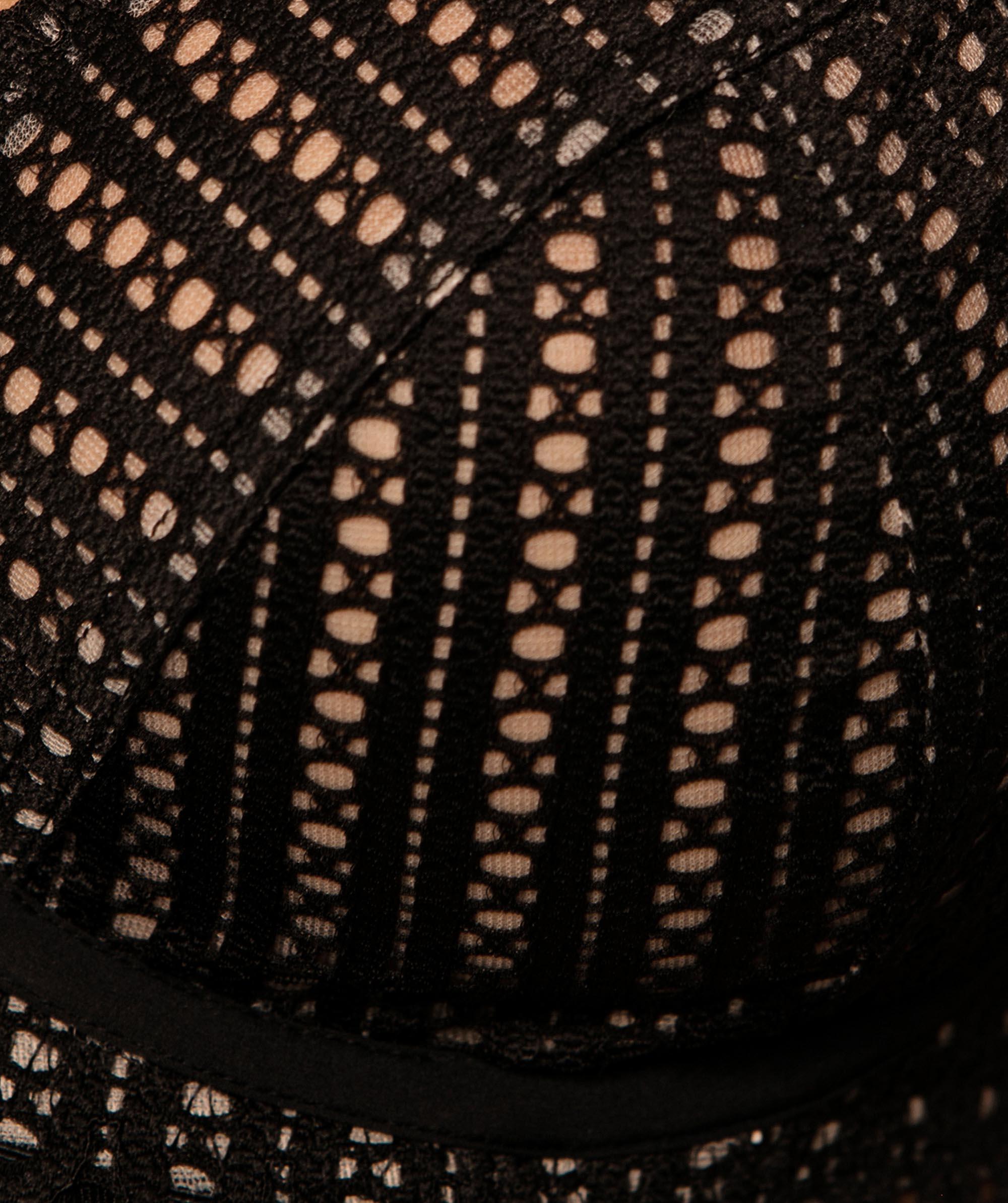Moira Plunge Underwire Bra - Black