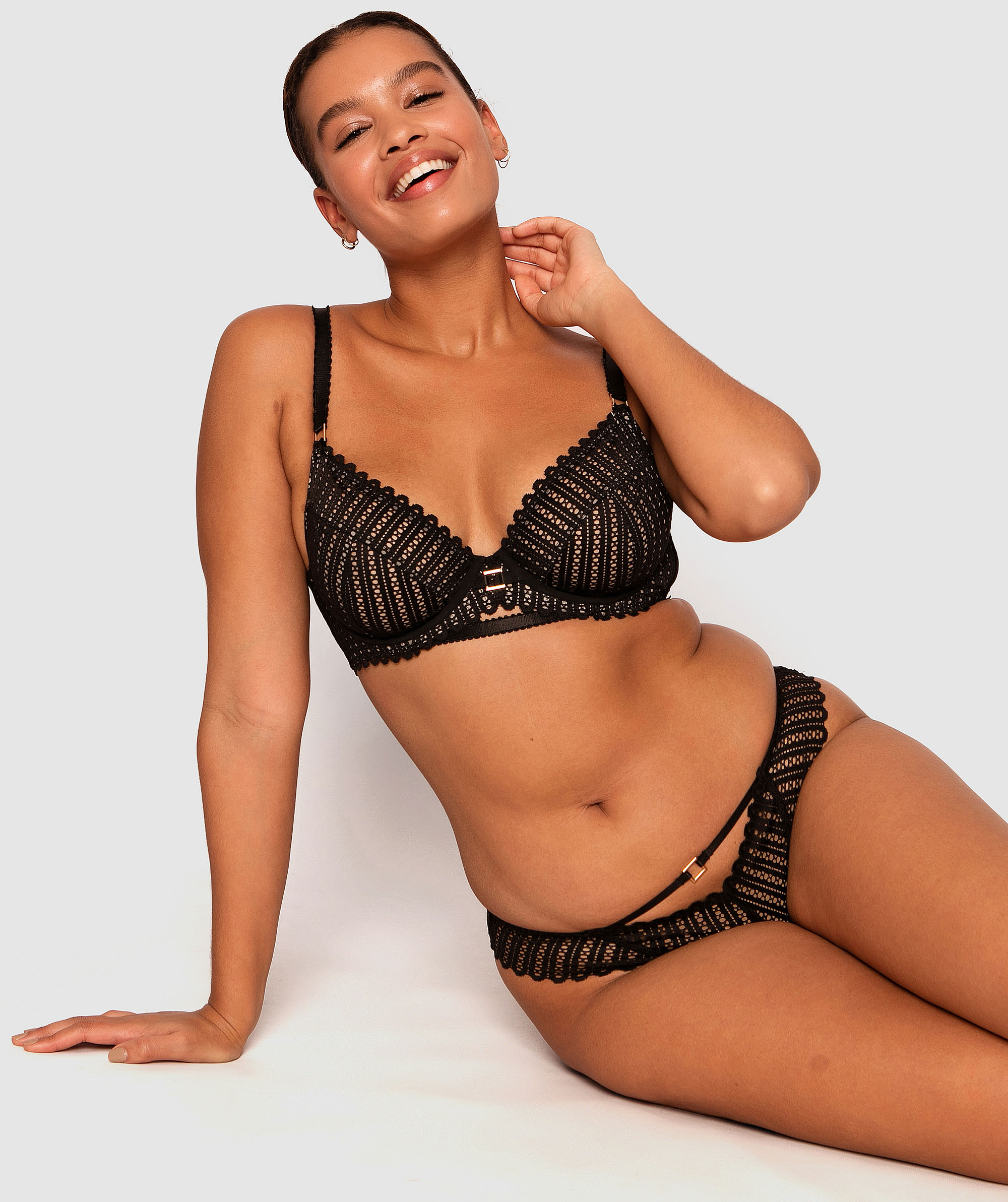 Moira Brazilian Knicker - Black