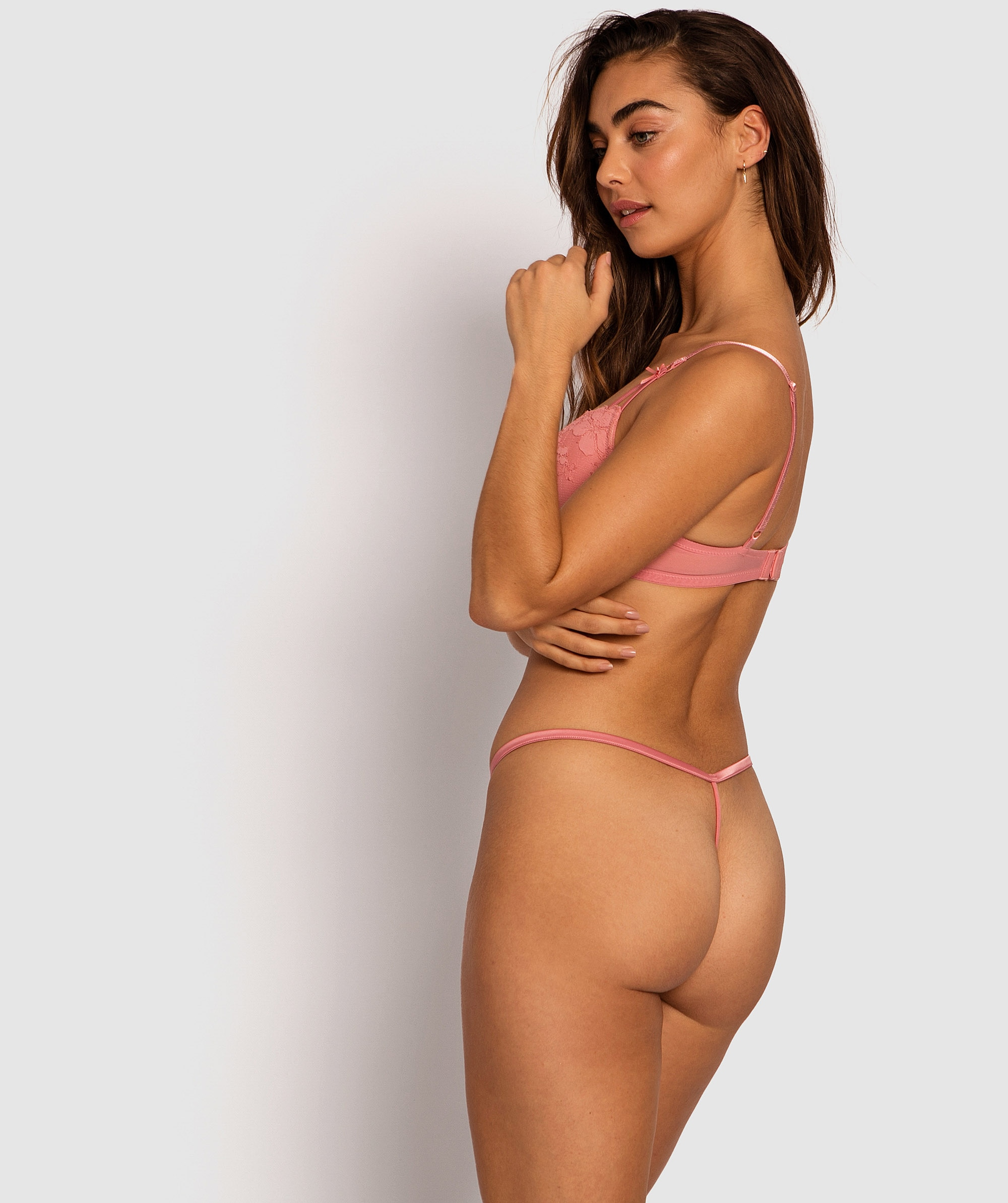 Amelia Mini V Knicker - Pink
