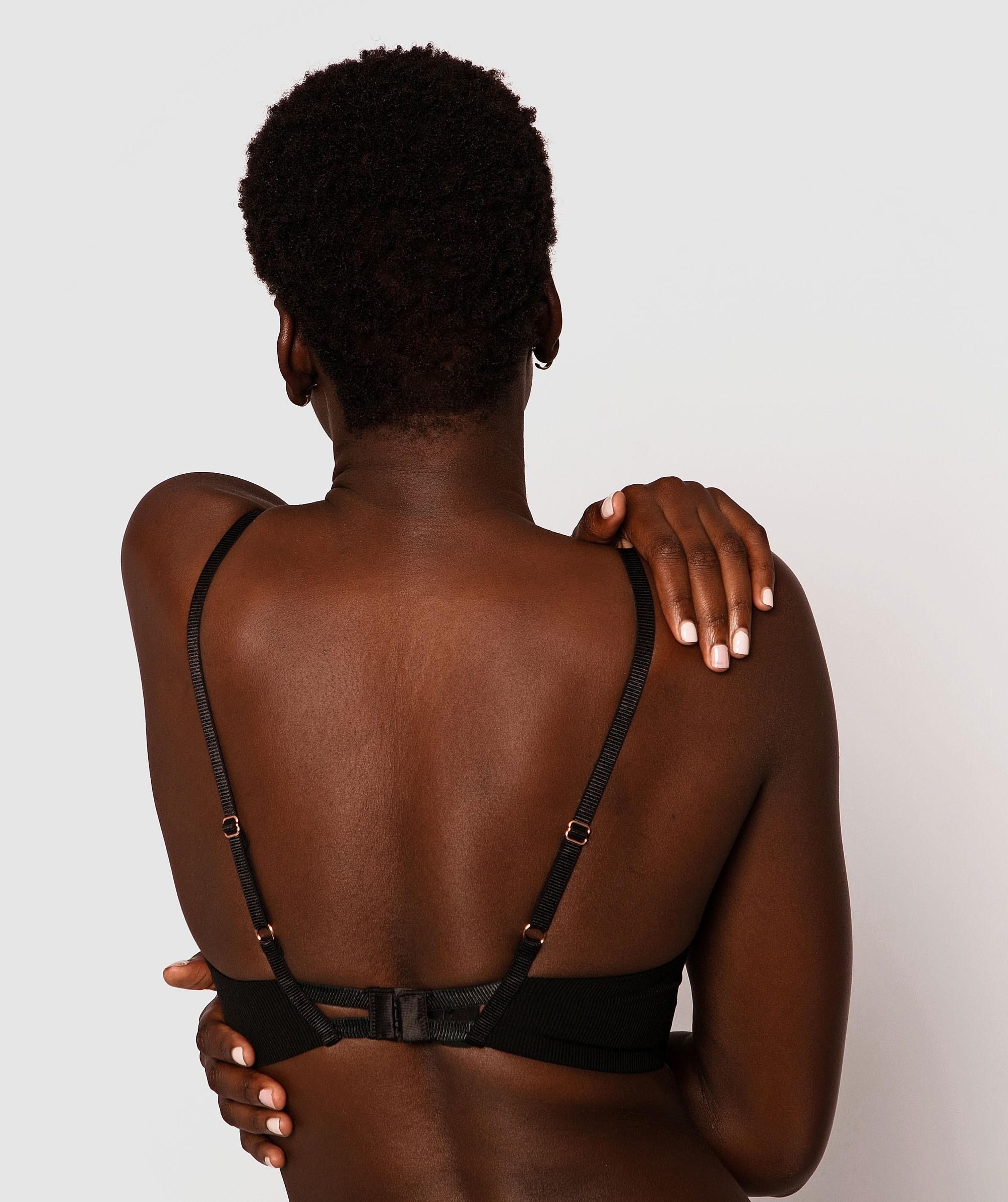 Erika Balconette Push Up Bra - Black
