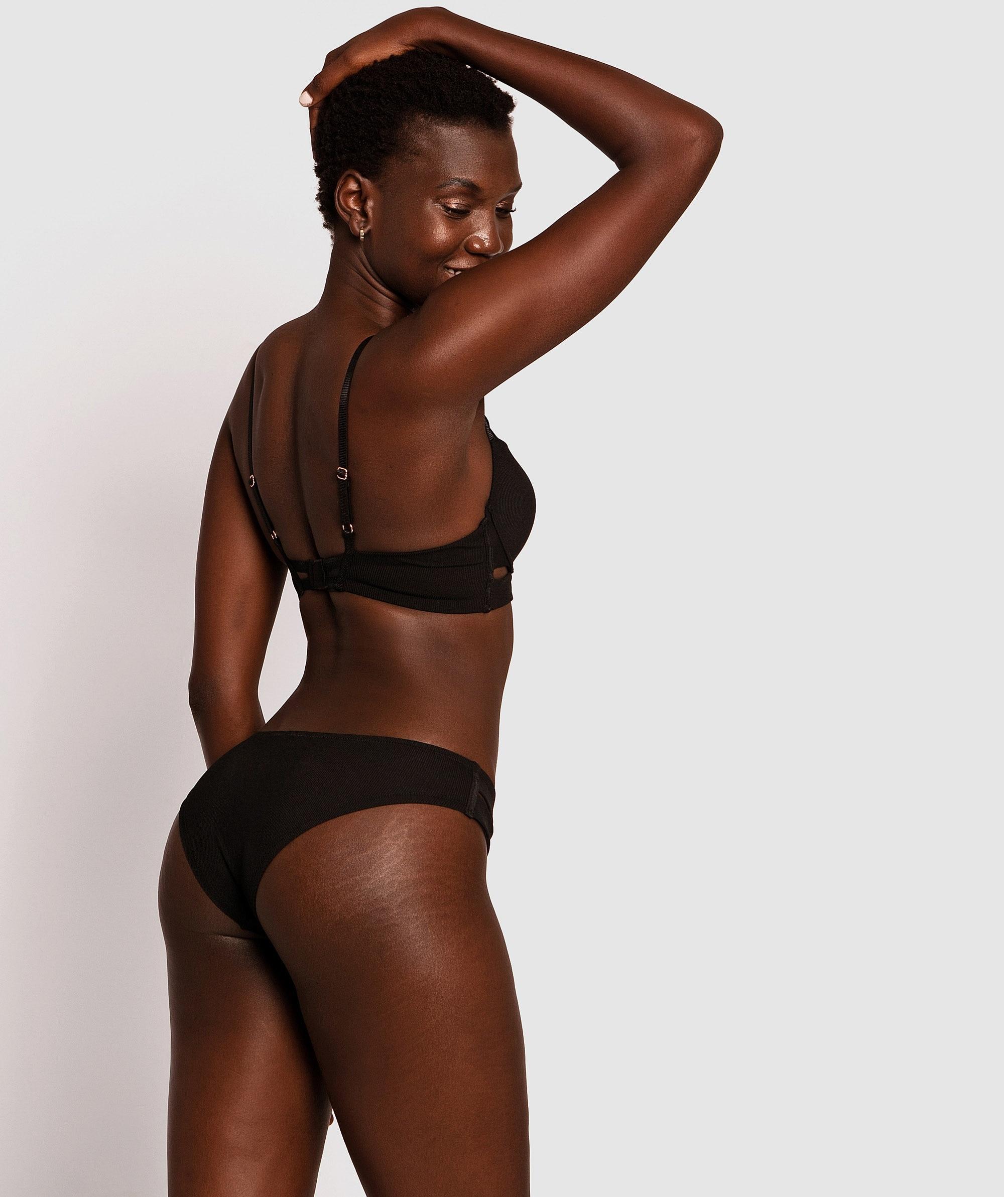 Erika Brazilian Knickers - Black