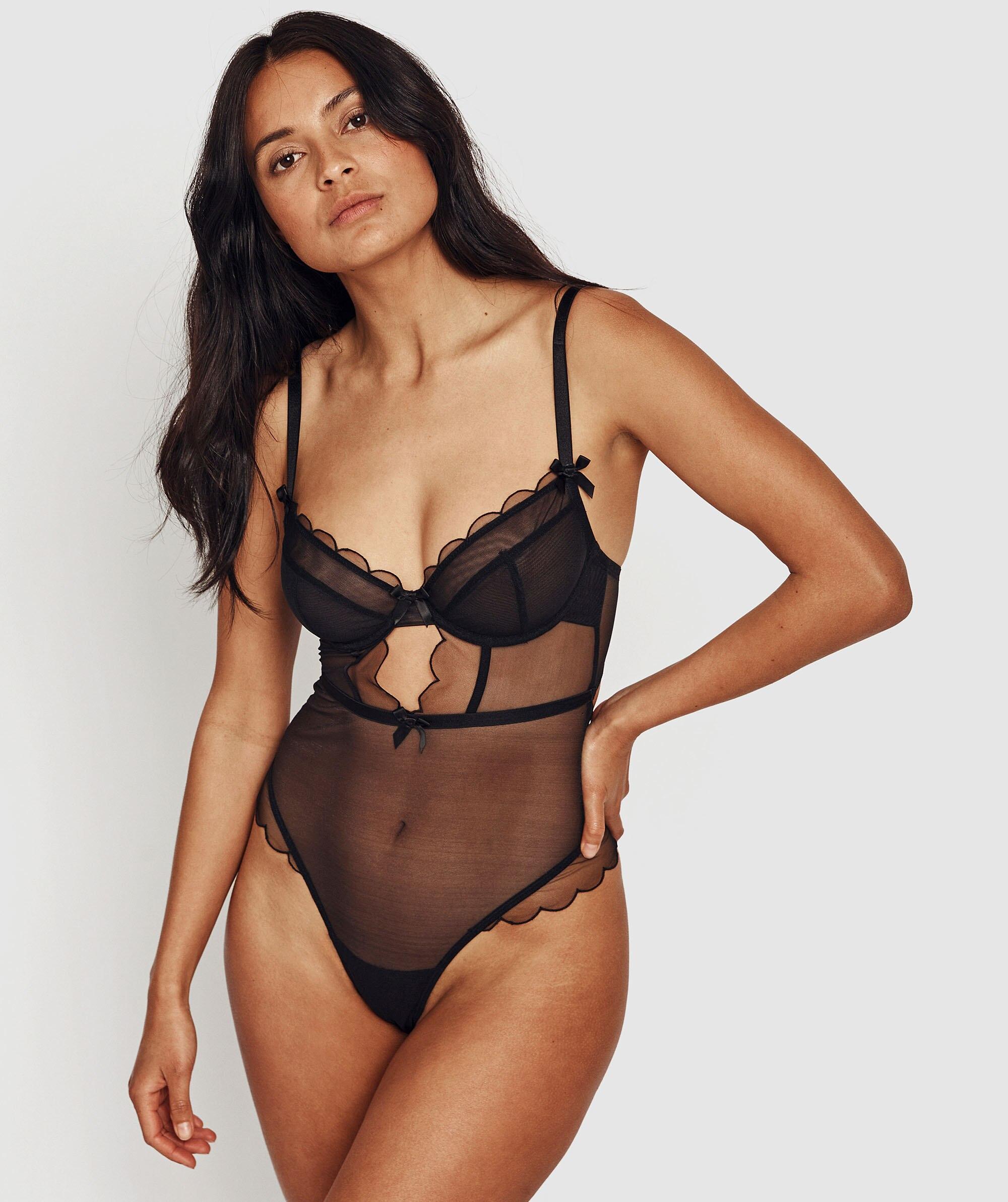Not So Cute Bodysuit - Black