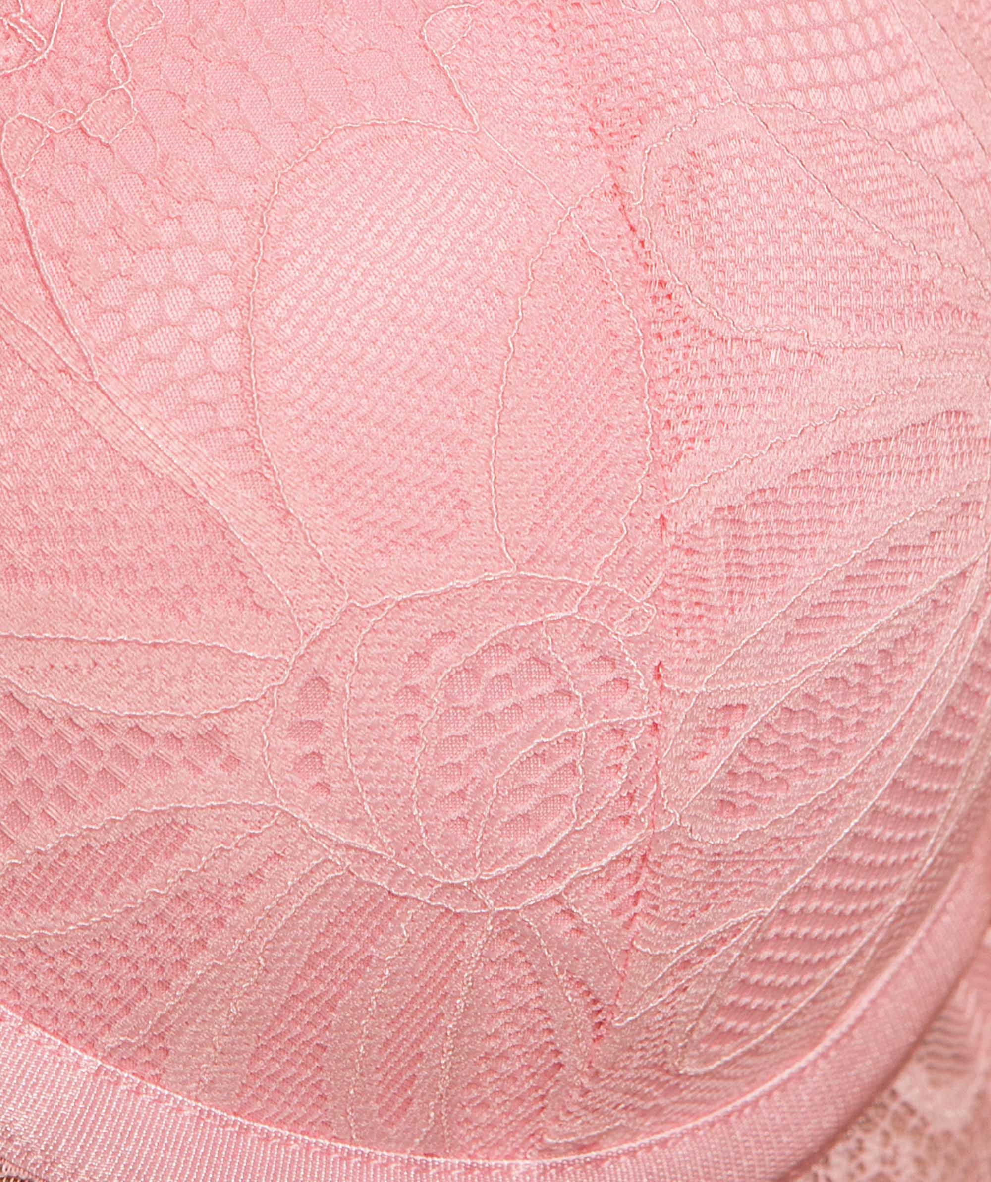 Leah Longline Plunge Contour Bra - Light Pink
