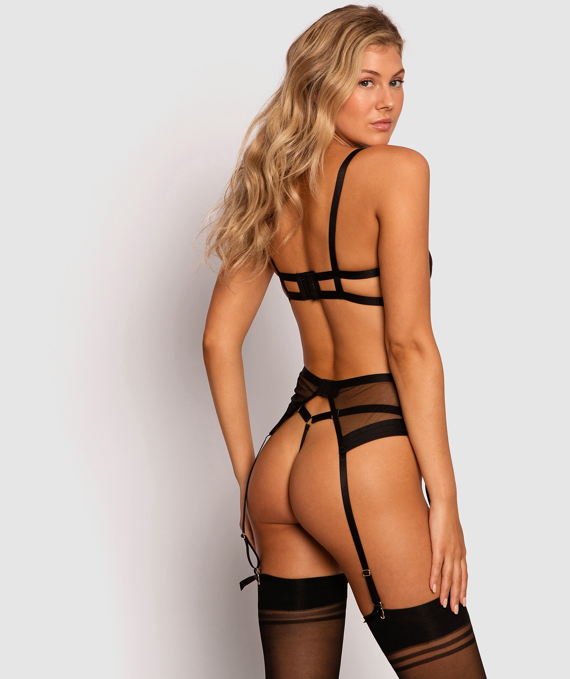 Temptation Suspender  - Black