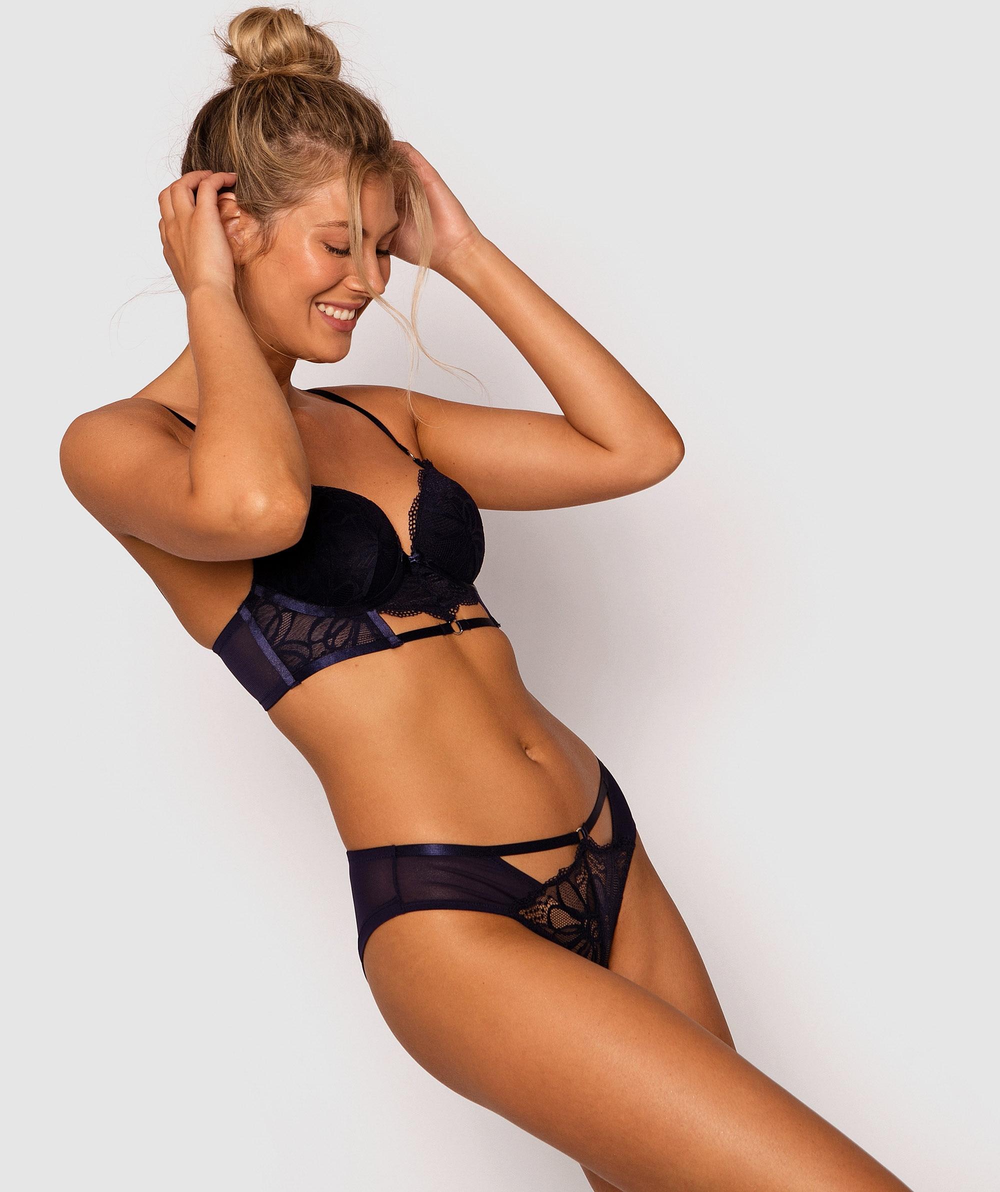 Leah Brazilian Knicker - Navy