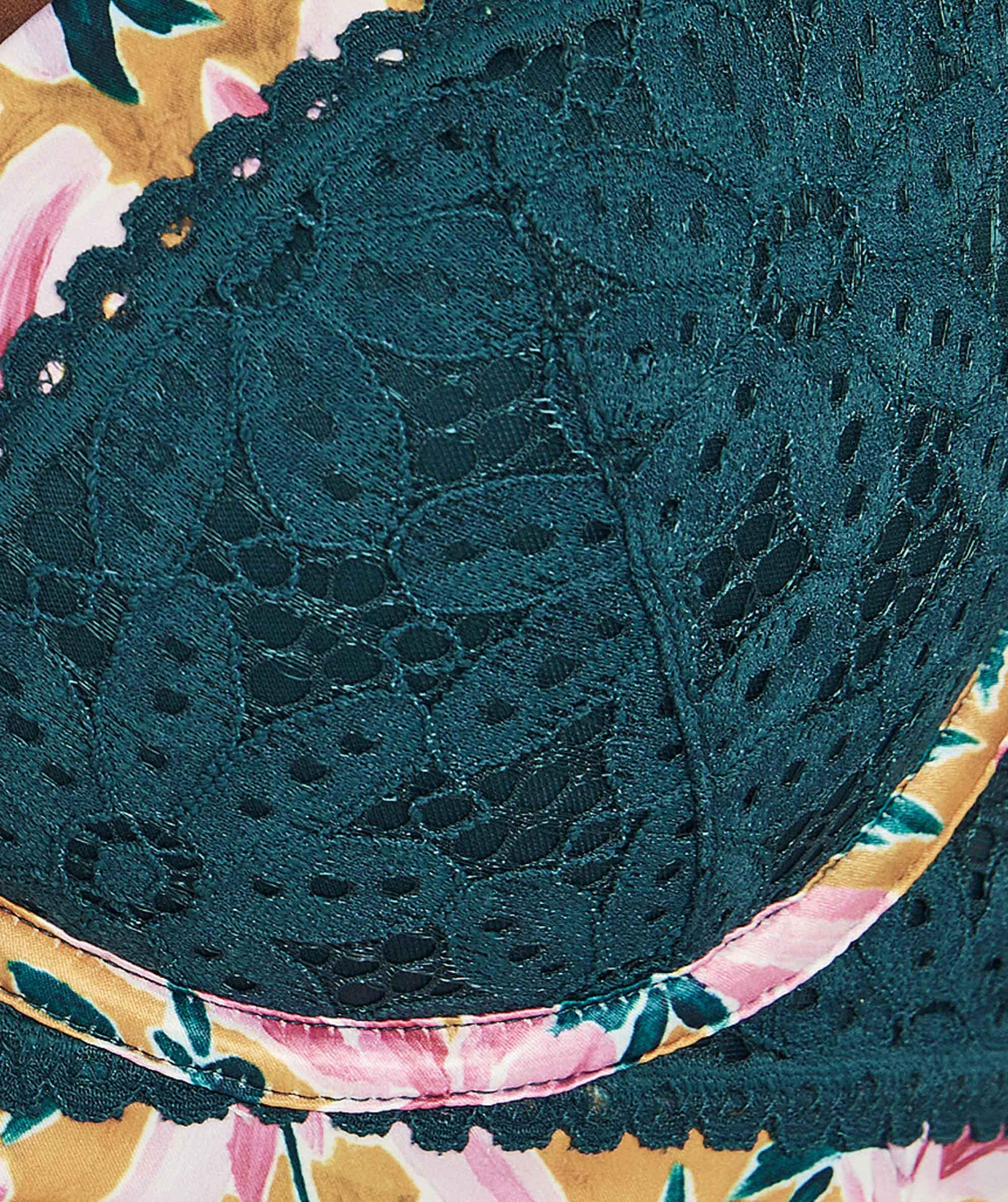 Saint Tropez Balconette Contour Bra - Teal/Floral Print