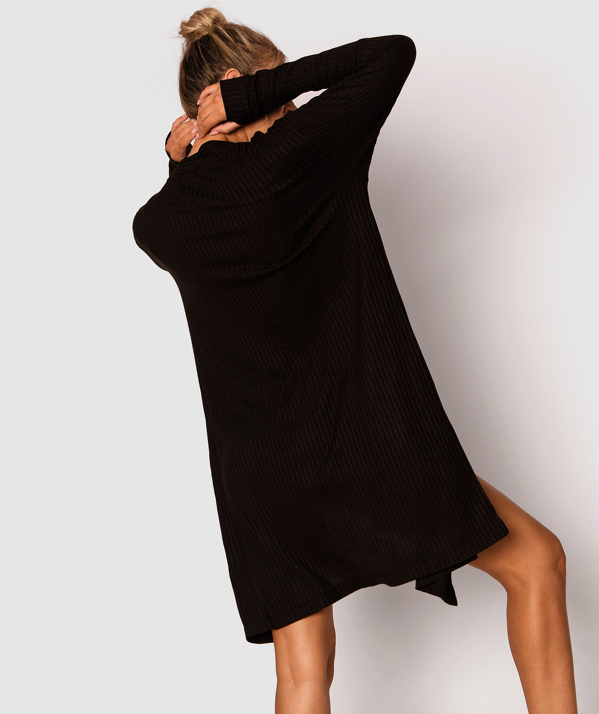 Style By Day Longline Cardigan - Black