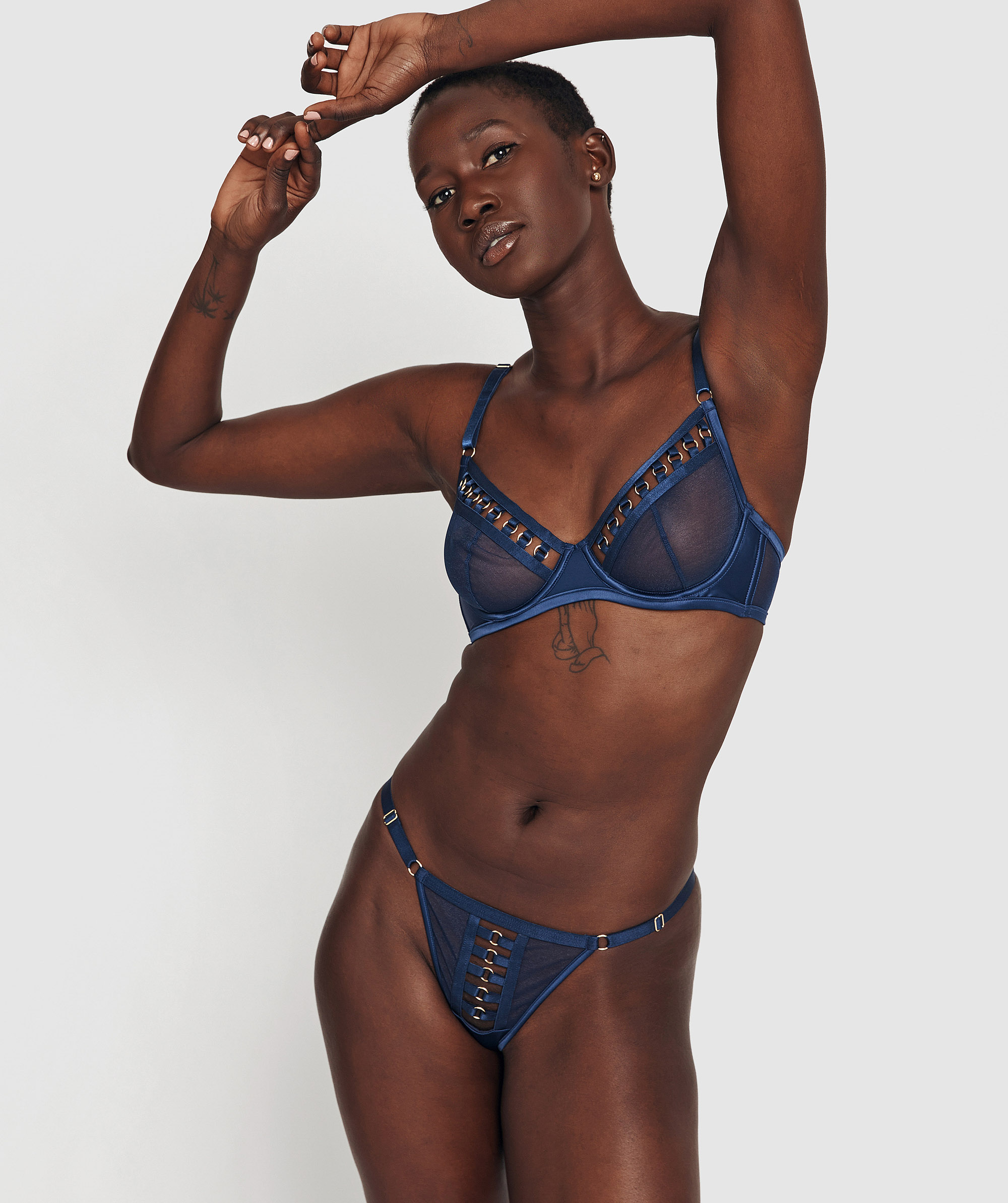 Its Complicated Soft Cup and Mini V Set - Navy