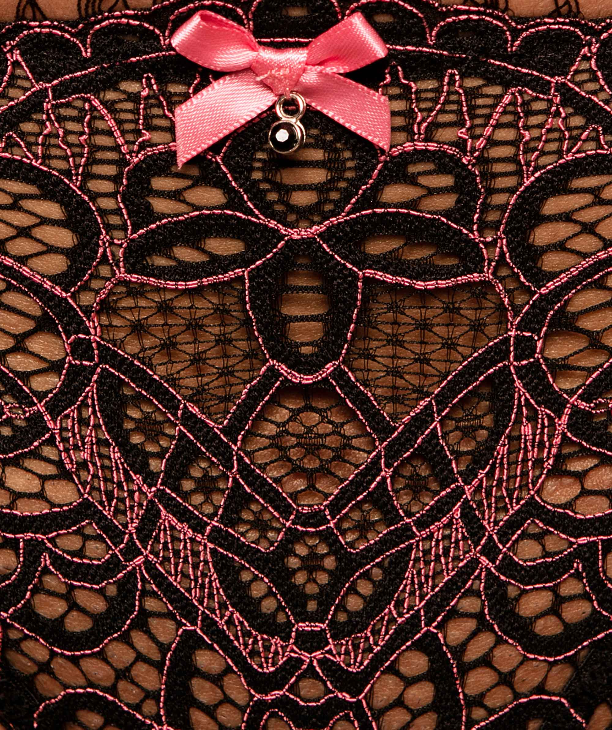 Ariana Brazilian Knicker - Black/Pink