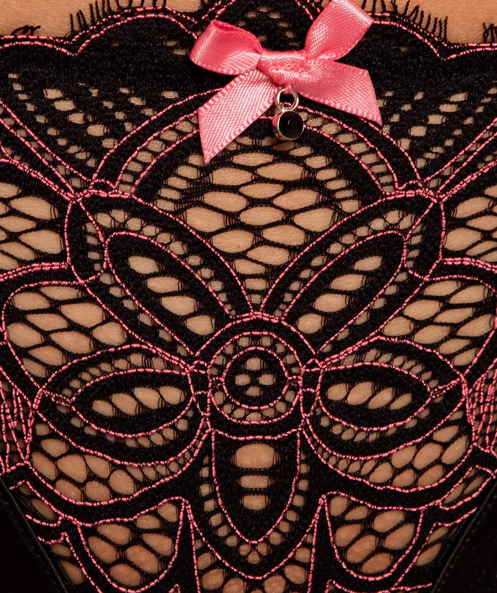 Ariana Mini V Knicker - Black/Pink