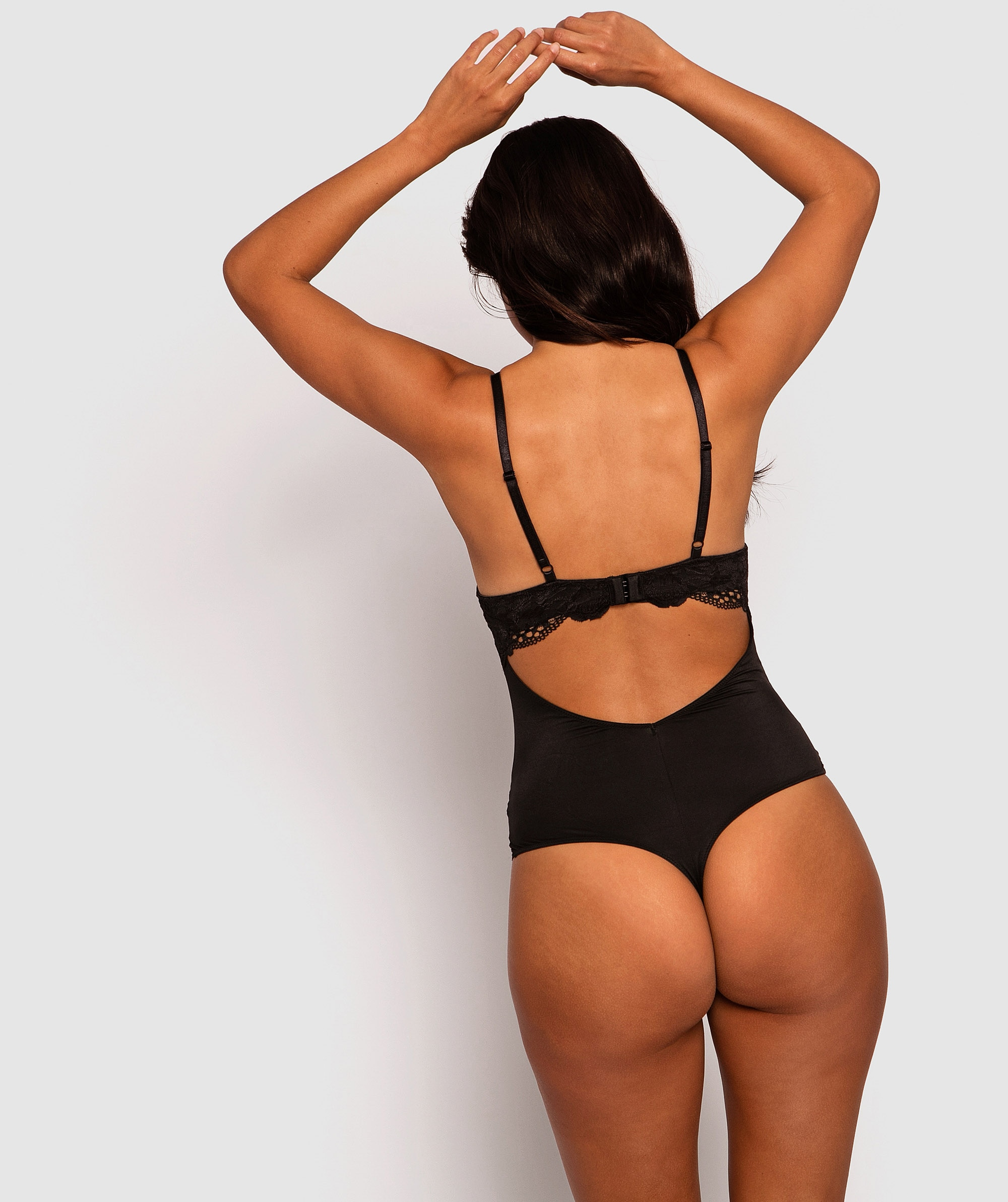 Style By Day Balconette Hope Push Up Bodysuit - Black