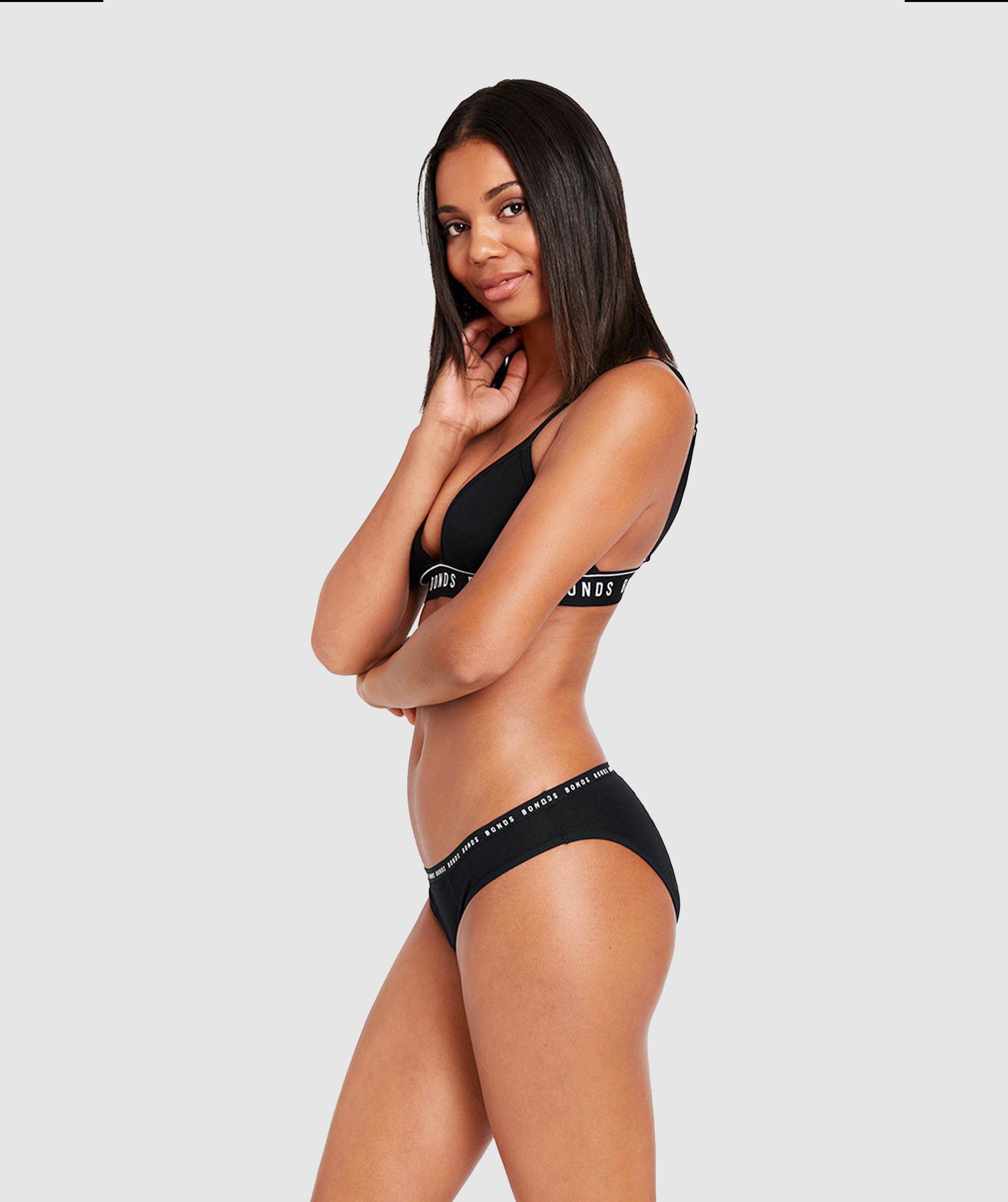 Bloody Comfy Period Undies Bikini Heavy - Black