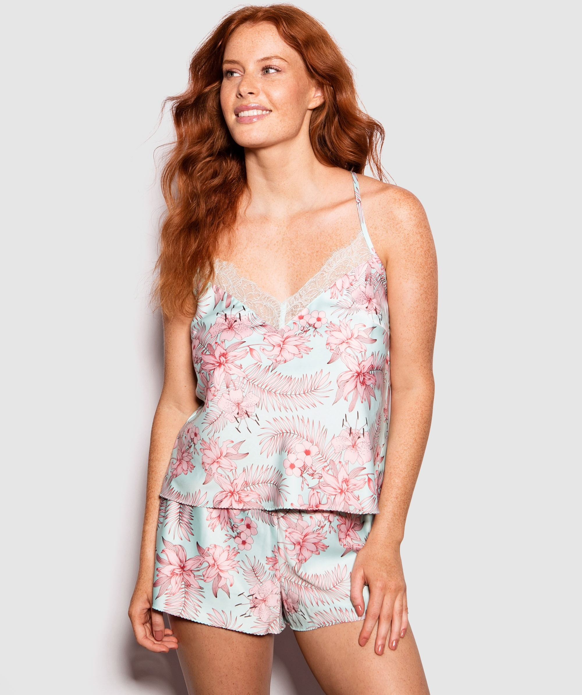 Minty Cami - Floral Print