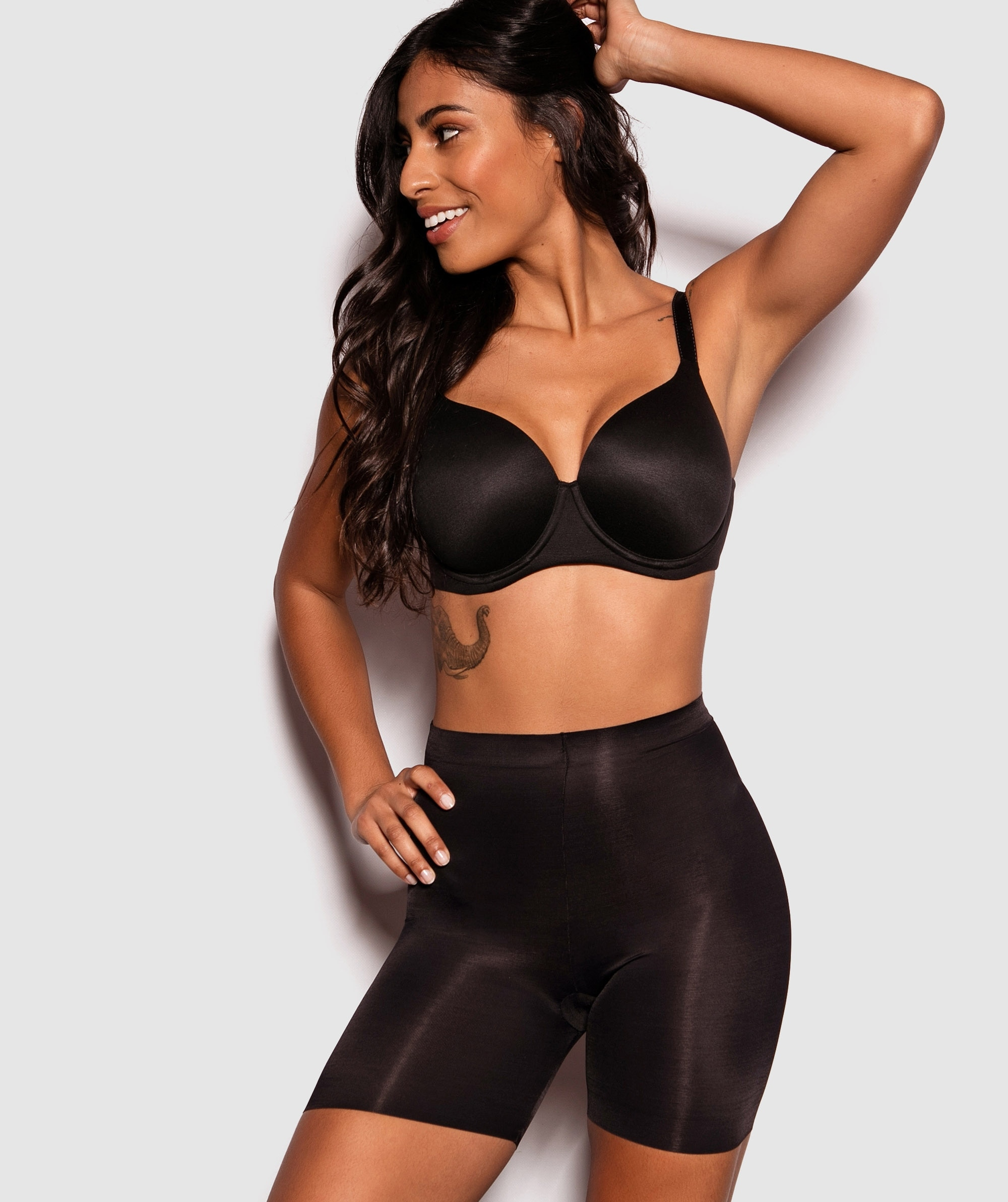 Cover Your Bases High Waisted Brief - Black